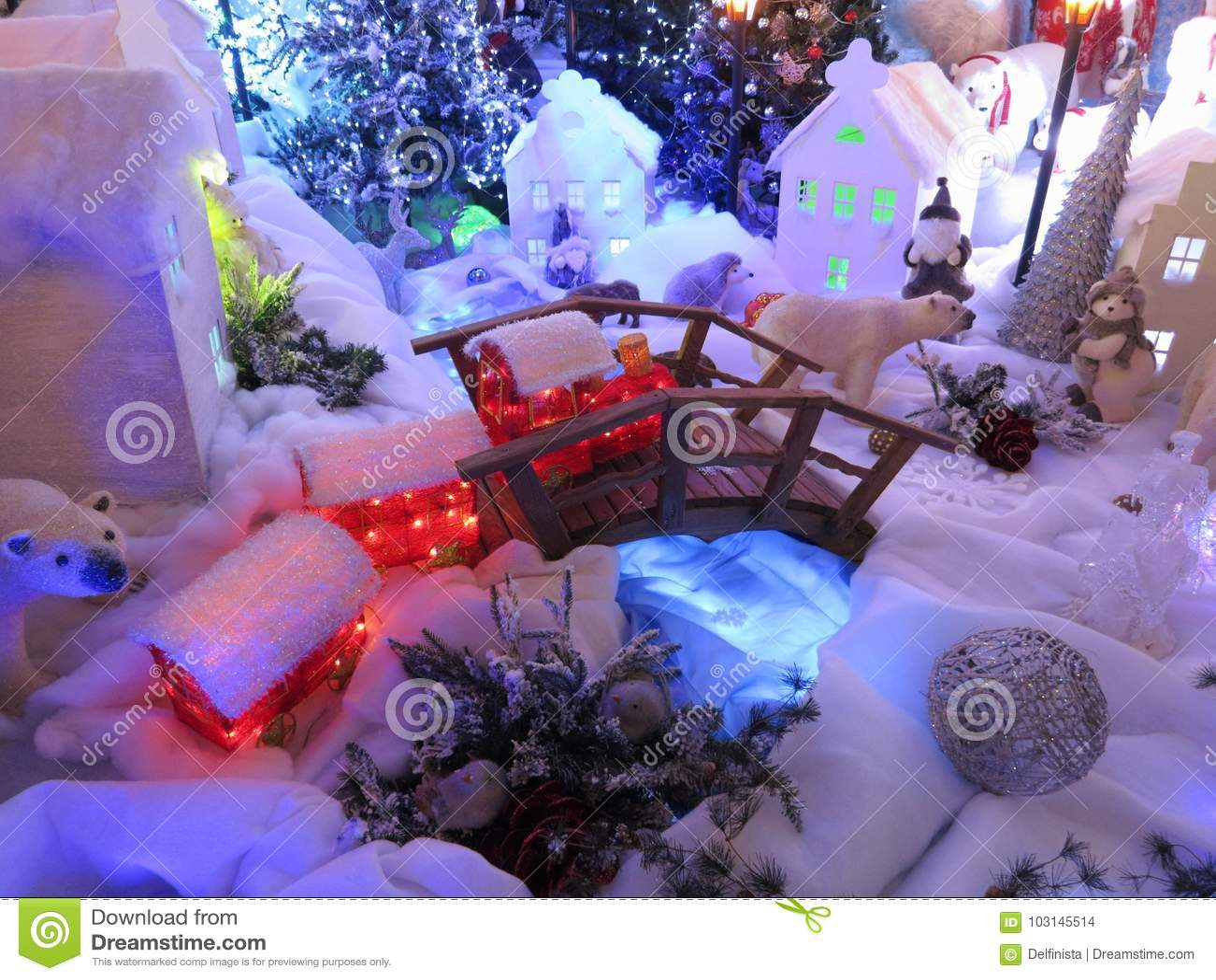 Cartão de Natal: Mundo das fadas do inverno - fotos conservadas em estoque