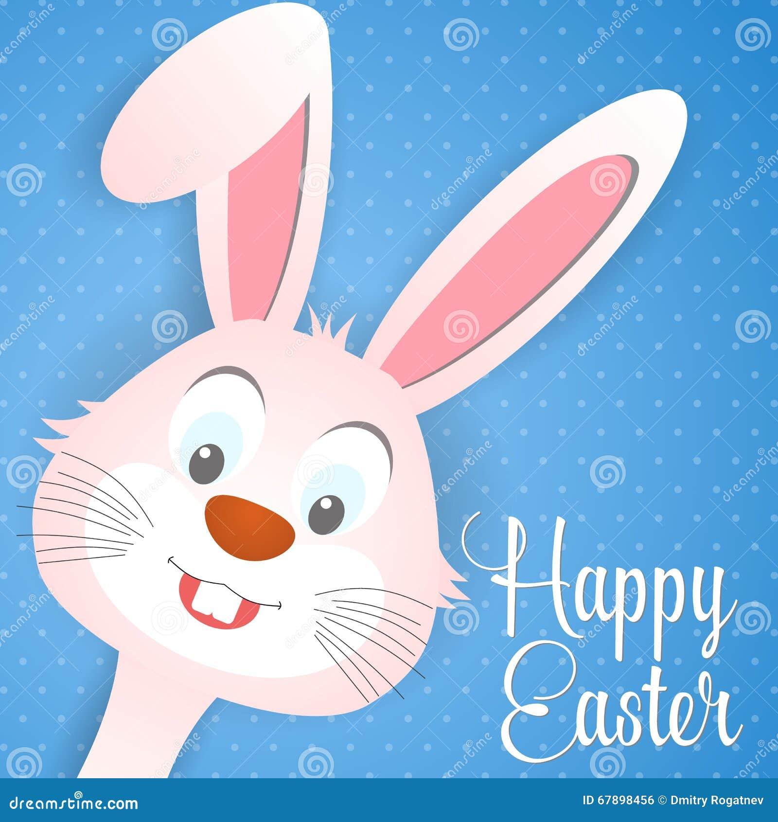 Cartão de Páscoa feliz com orelhas de coelho