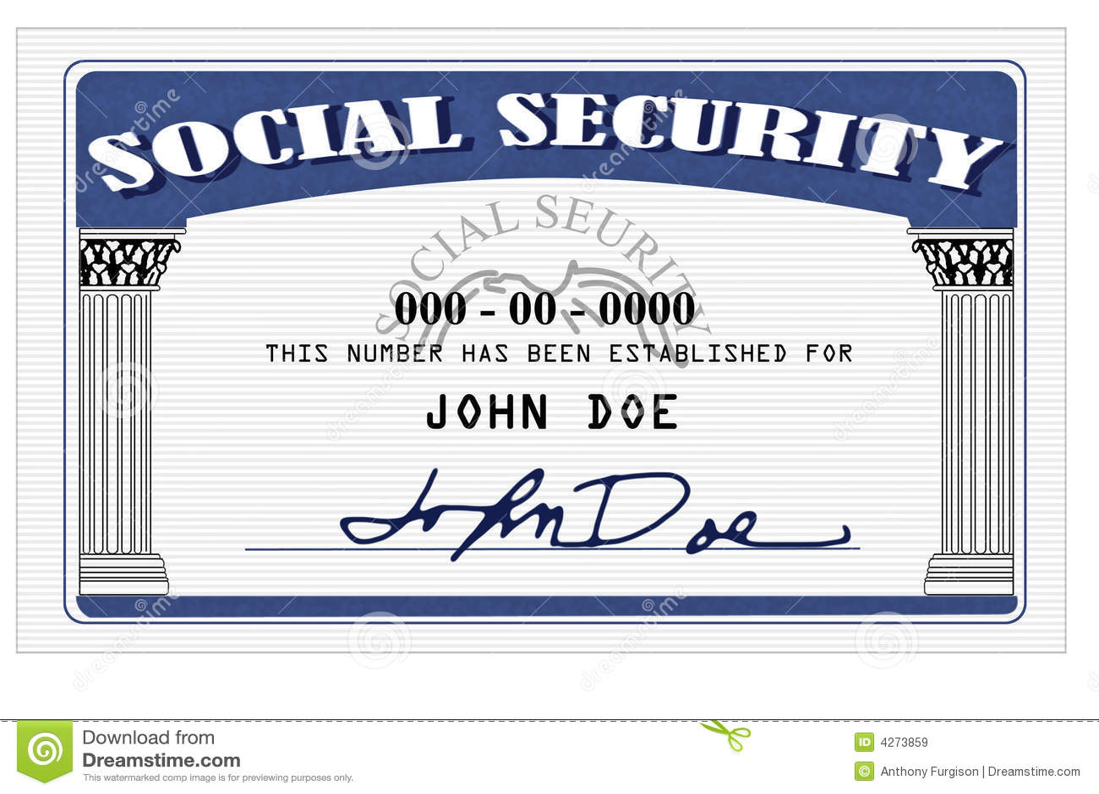 Cartão de segurança social