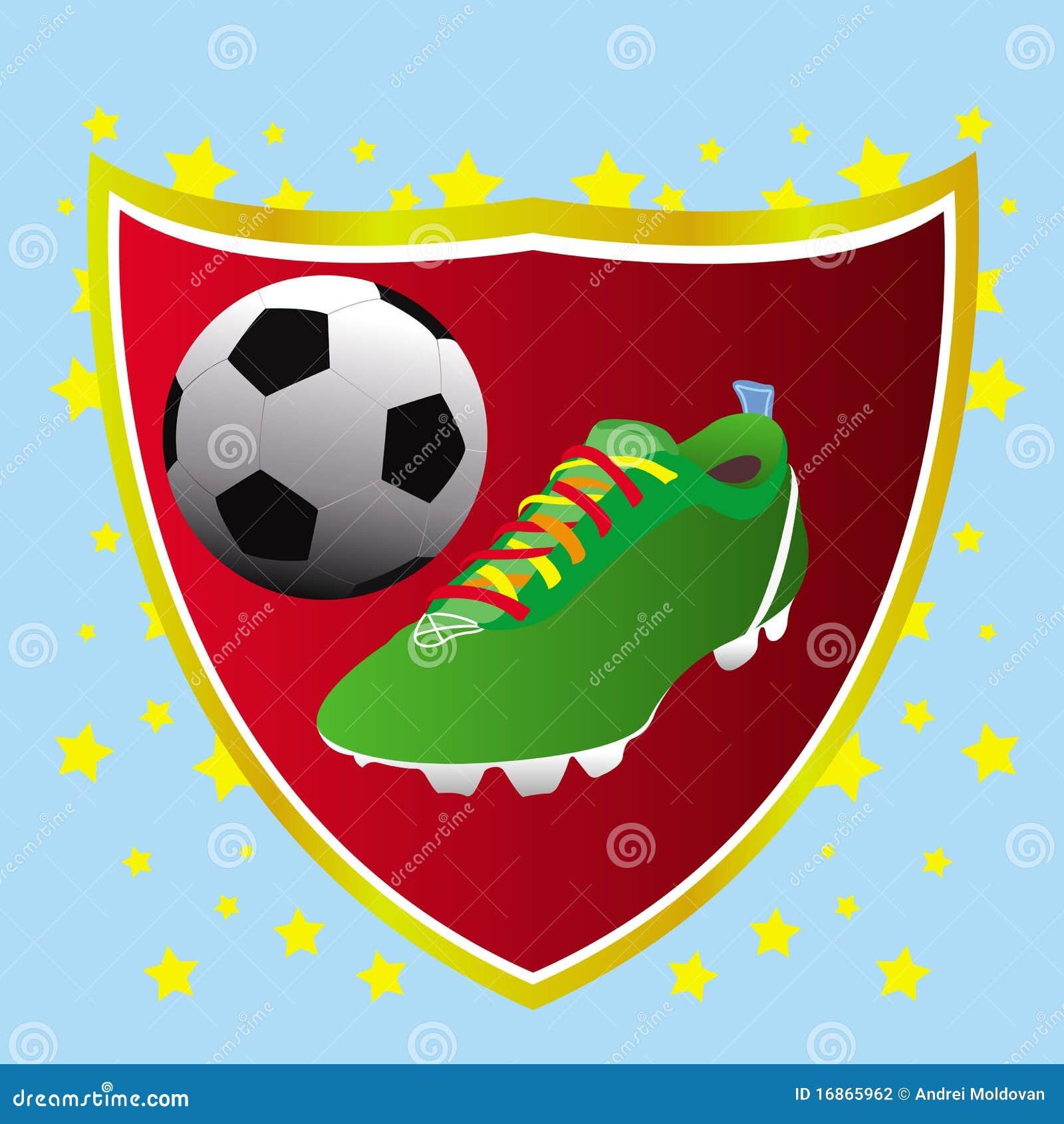 Cartão do conceito da bandeira do futebol
