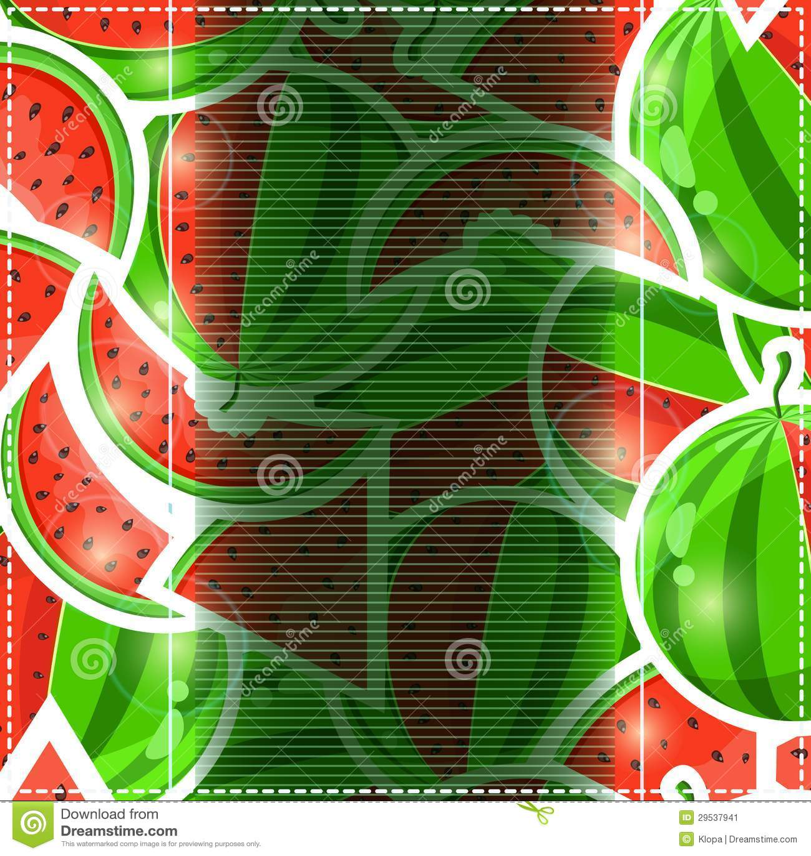 Cartão do convite da melancia do fruto