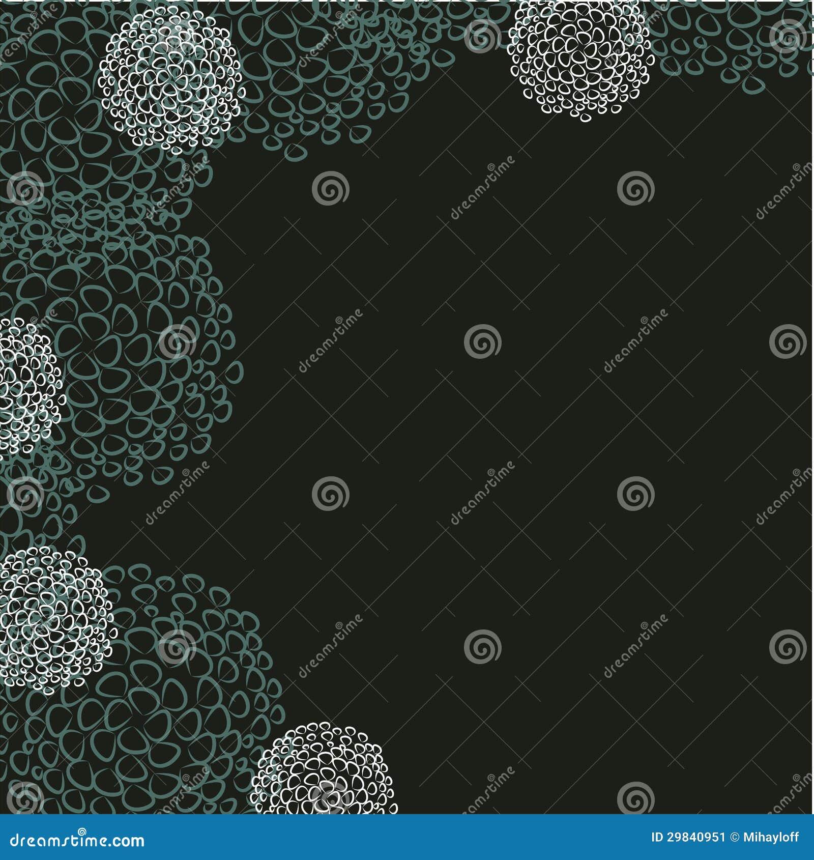 Cartão com fundo floral abstrato.