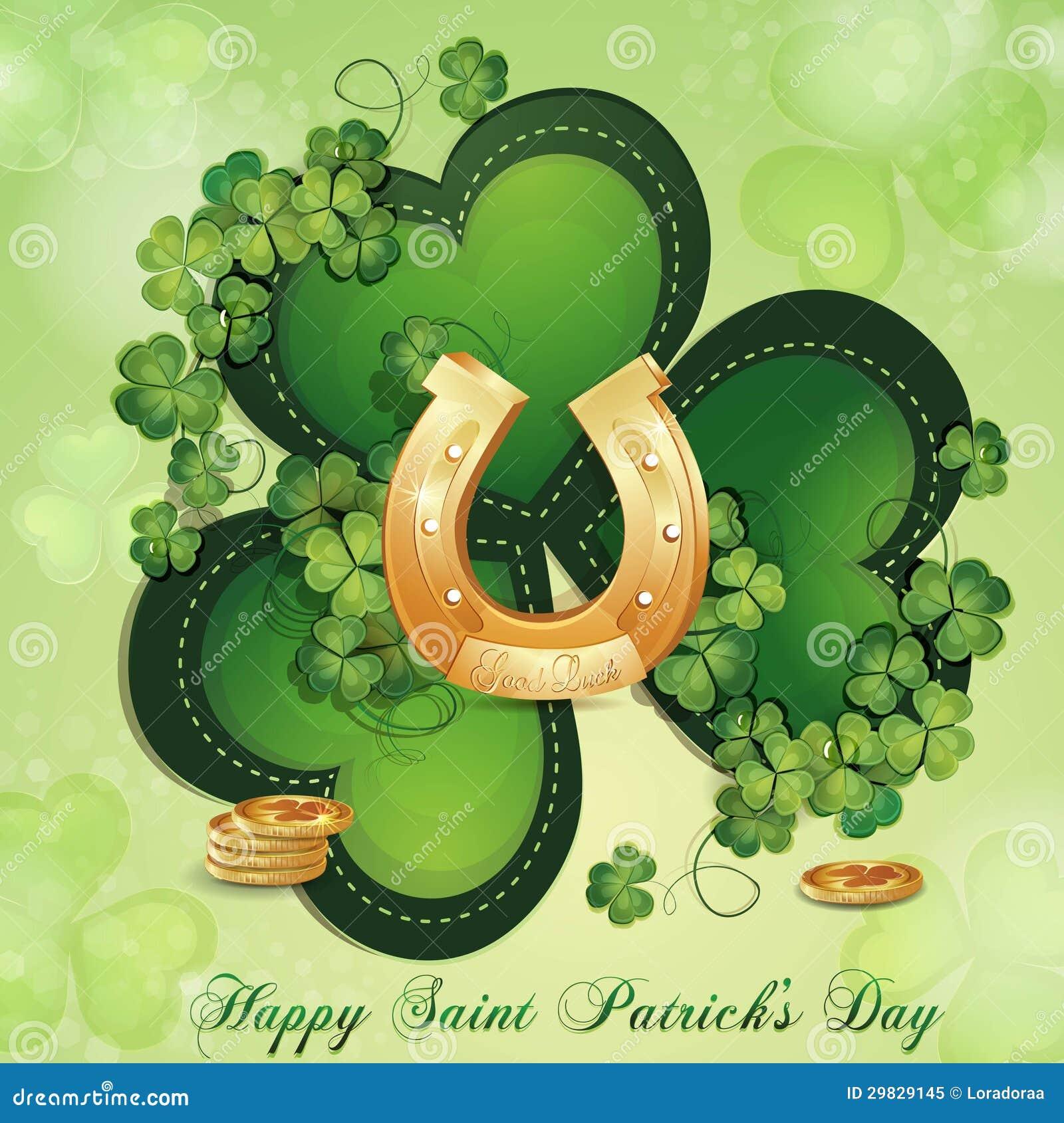 Cartão do dia de Patrick de Saint