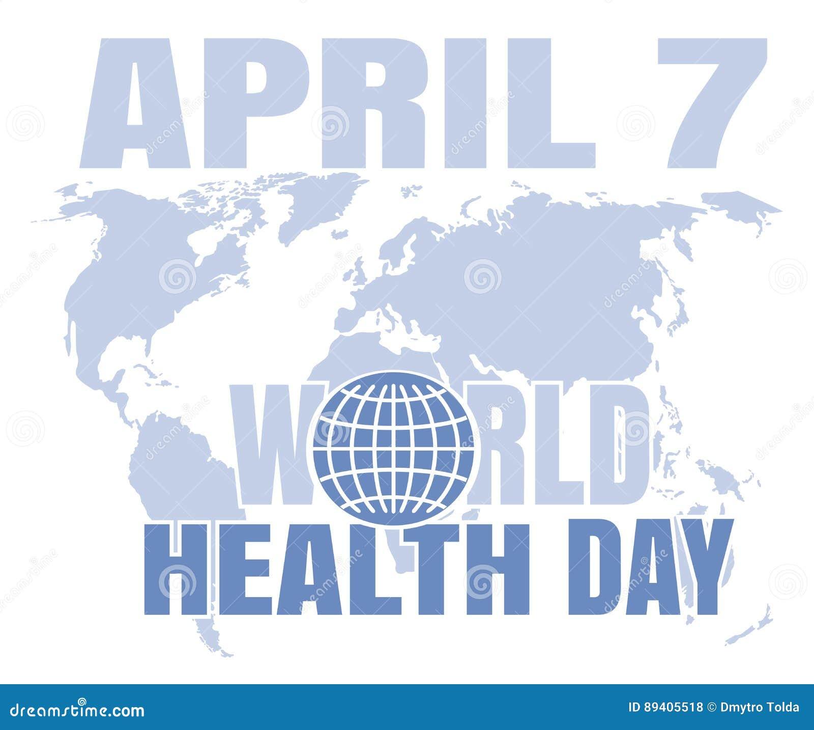 Cartão do dia de saúde de mundo 7 de abril