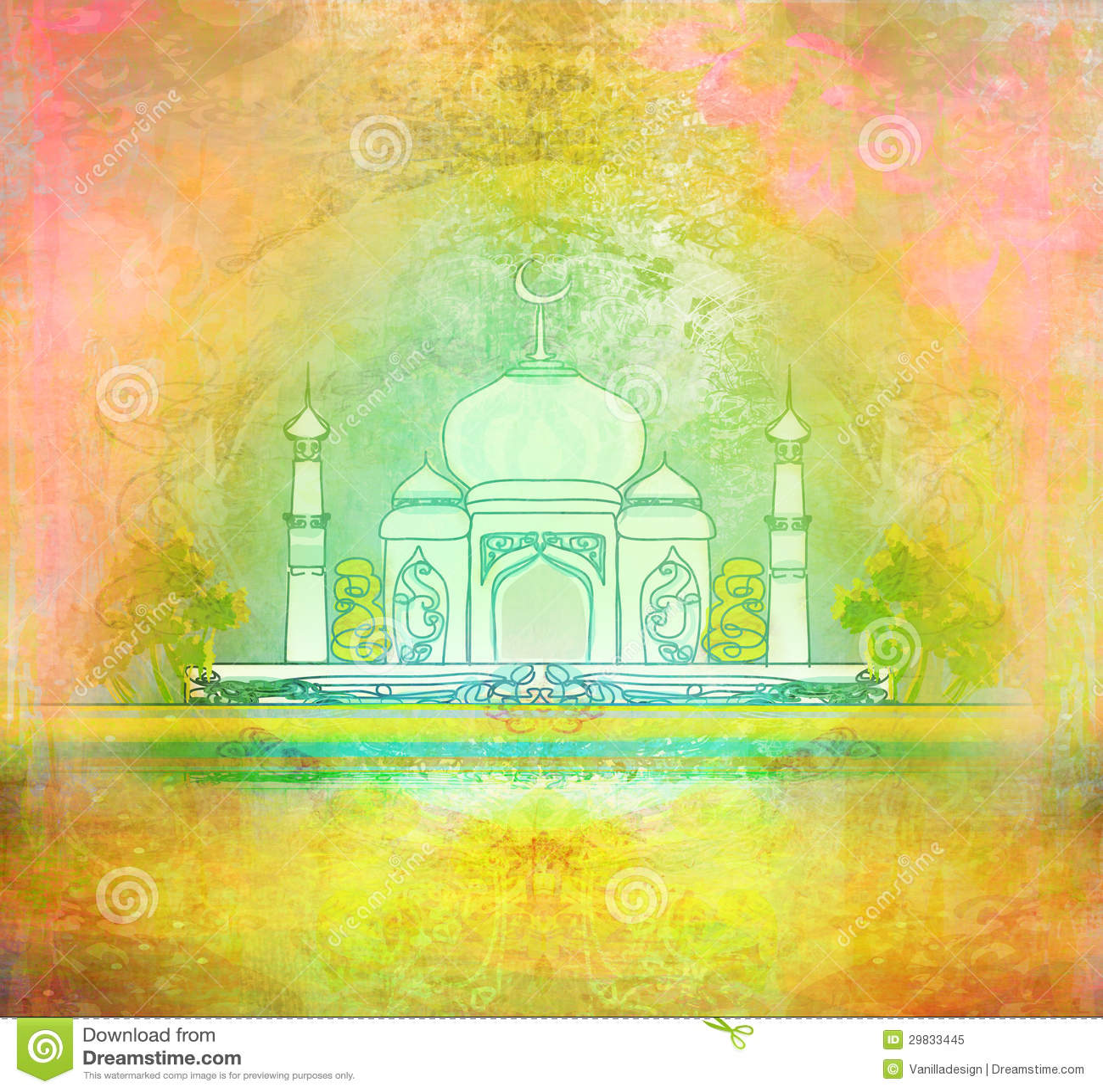 Cartão do kareem de Ramadan