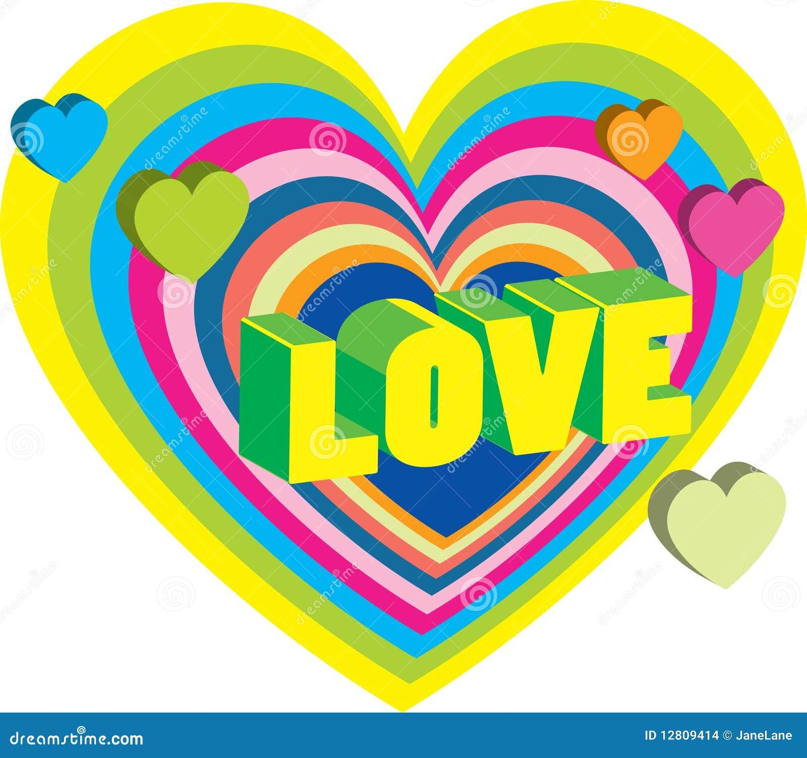 Cartão do Valentim brilhante com corações