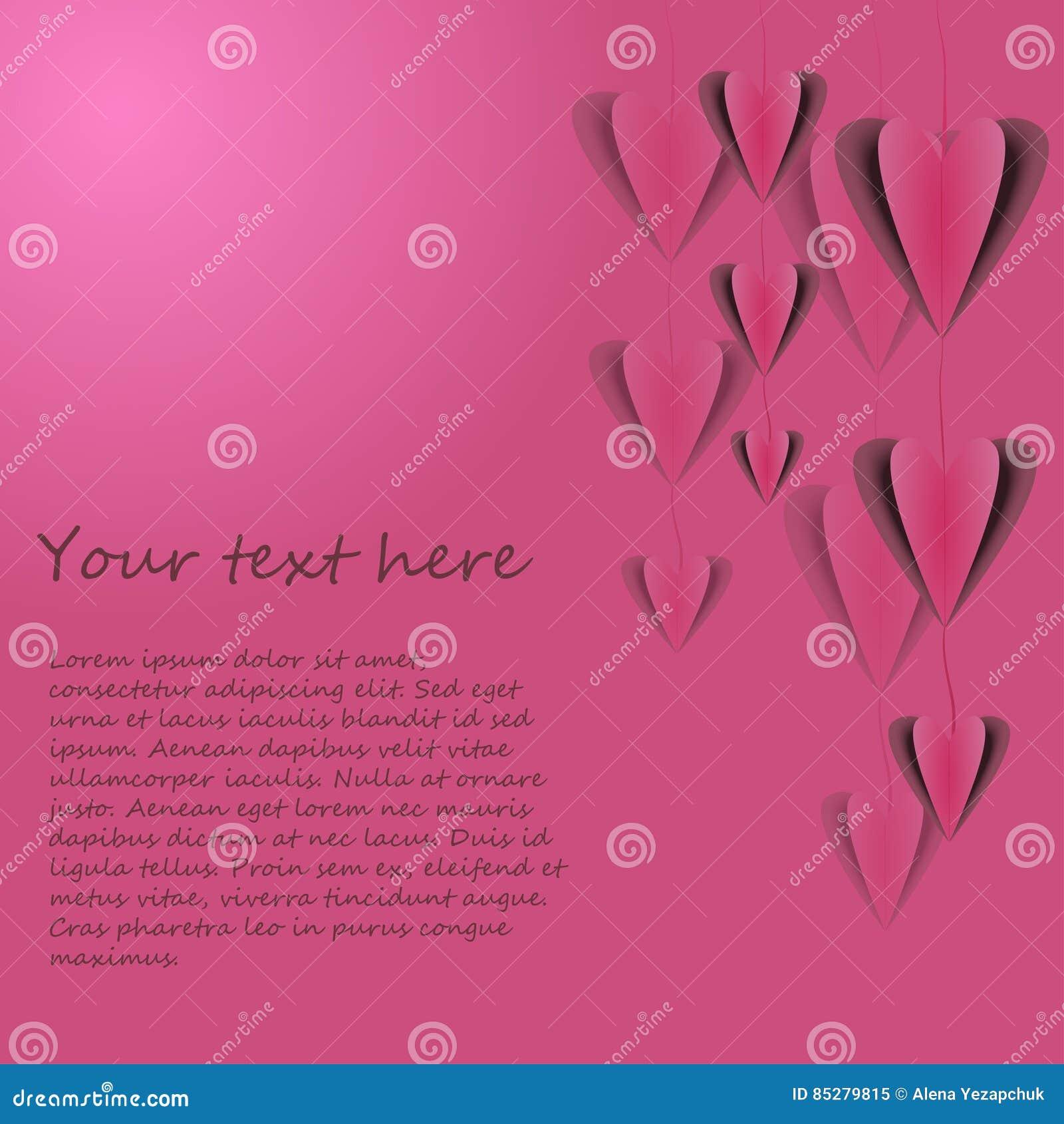 Cartão do vetor com corações