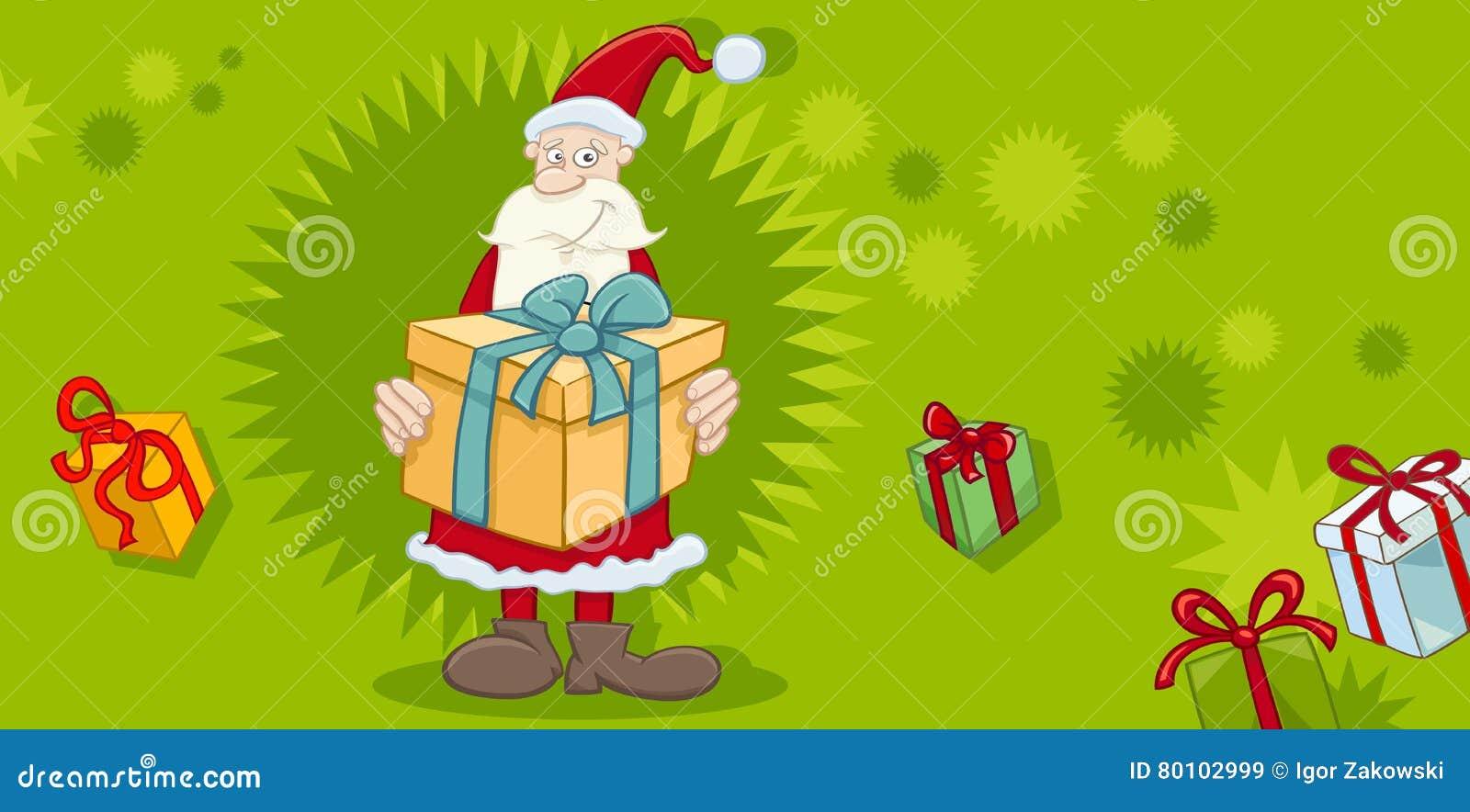 Cartão do Xmas com Santa