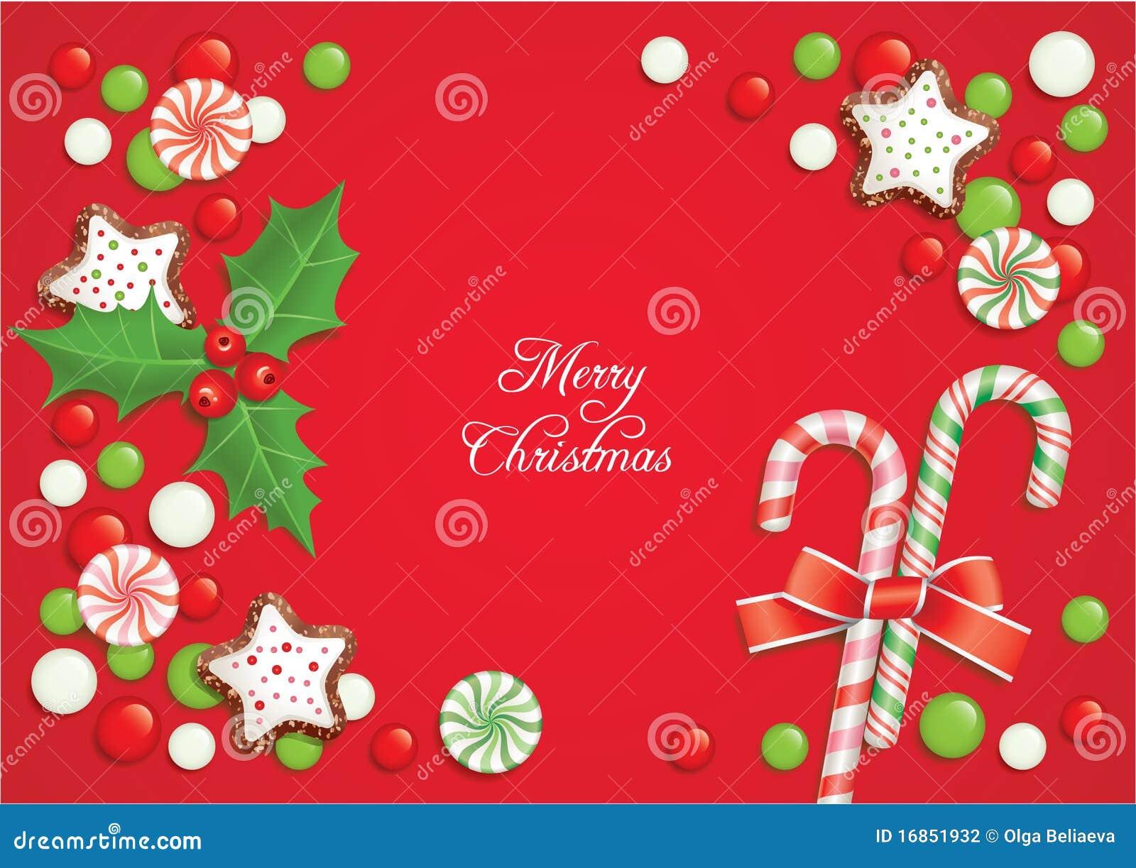 Cartão dos doces do Natal