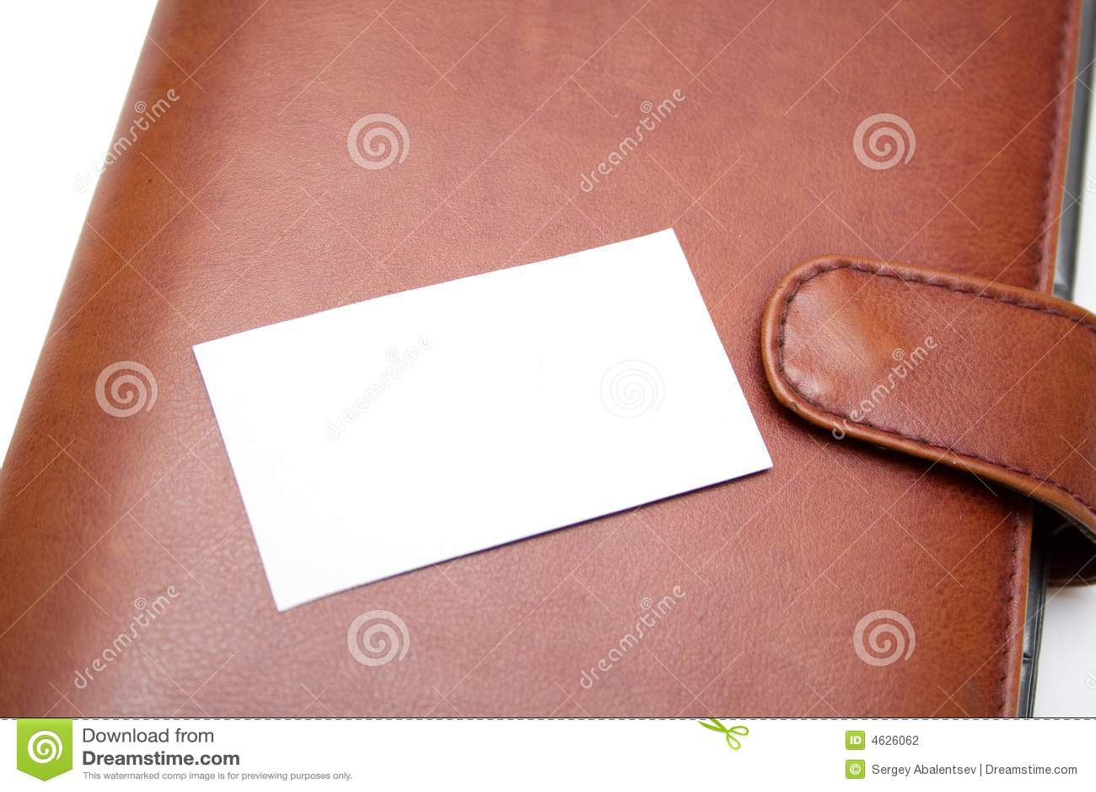 Cartão e organizador da visita
