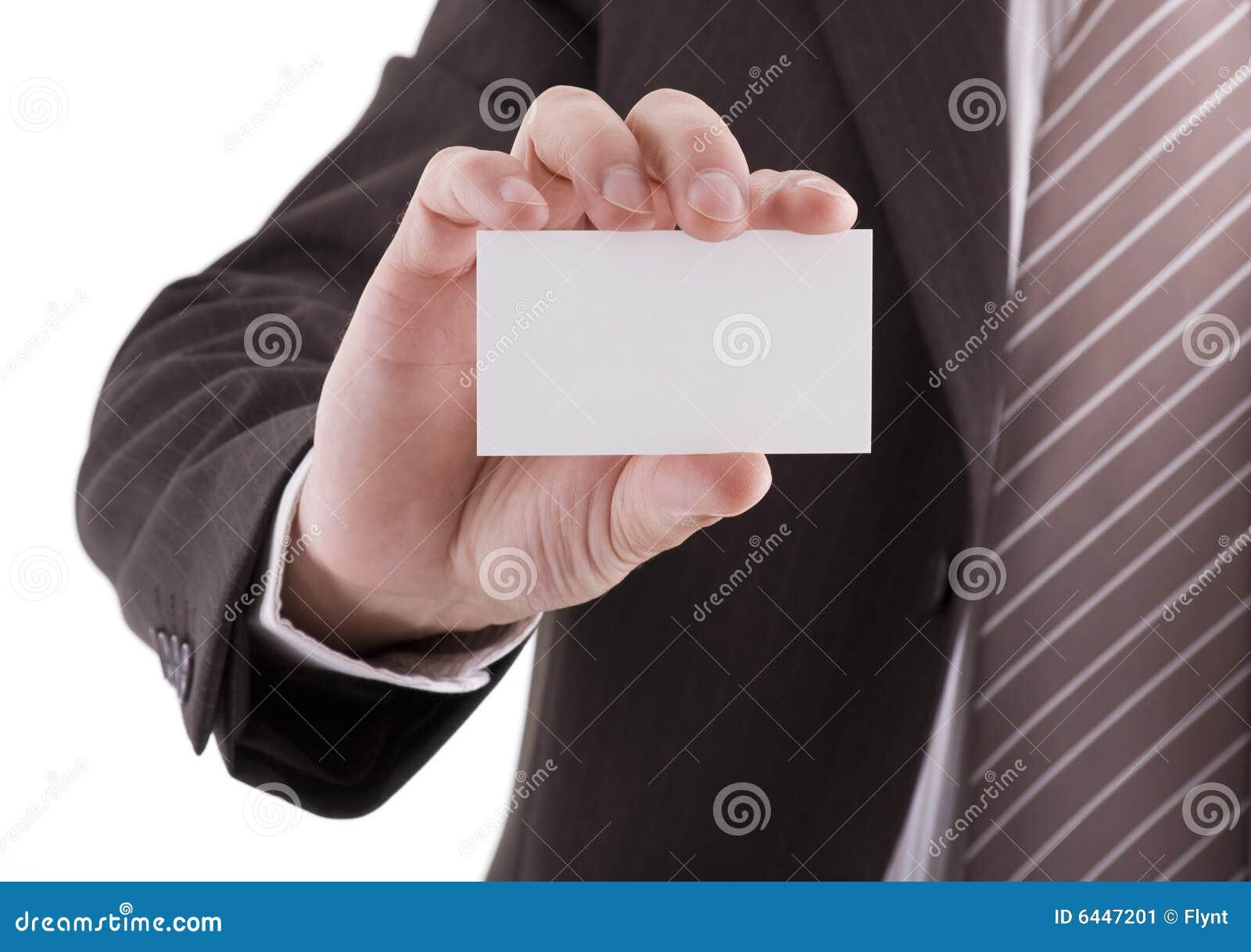Cartão em branco à disposicão