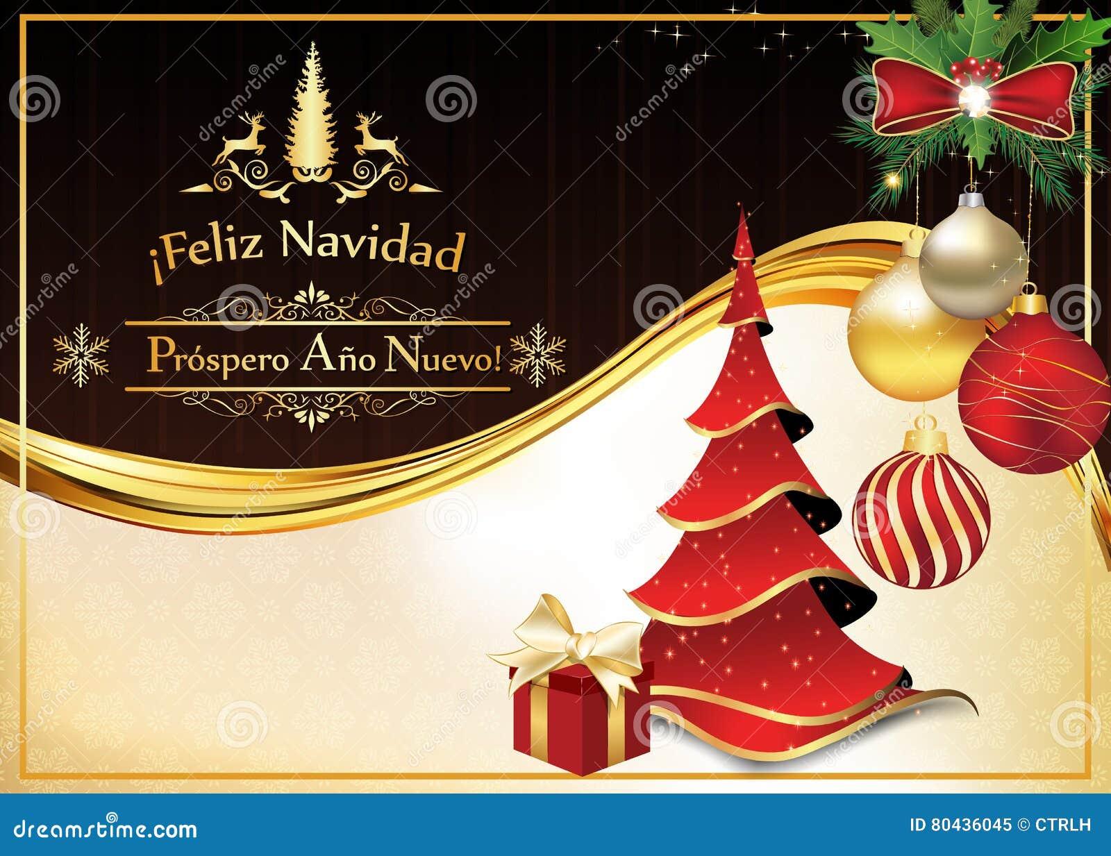 cart o espanhol pelo natal e o ano novo ilustra o stock. Black Bedroom Furniture Sets. Home Design Ideas