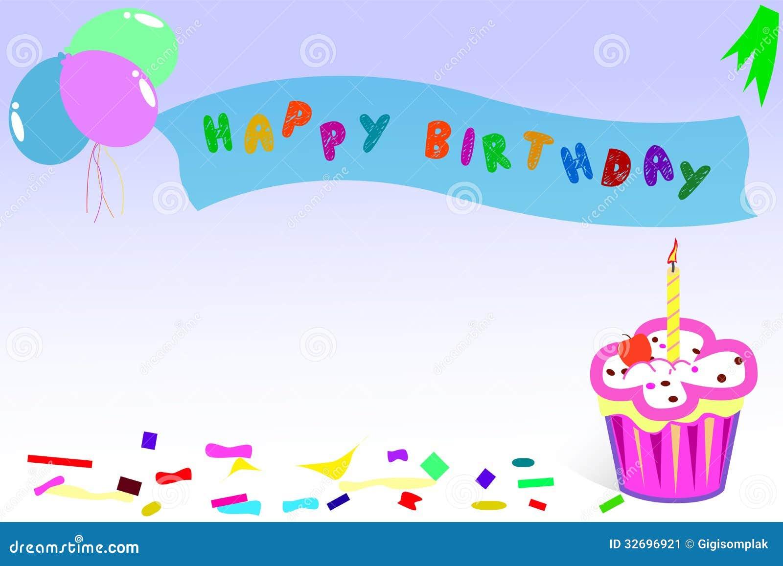 Cart 227 O Feliz Aniversario Ilustra 231 227 O Do Vetor Imagem De