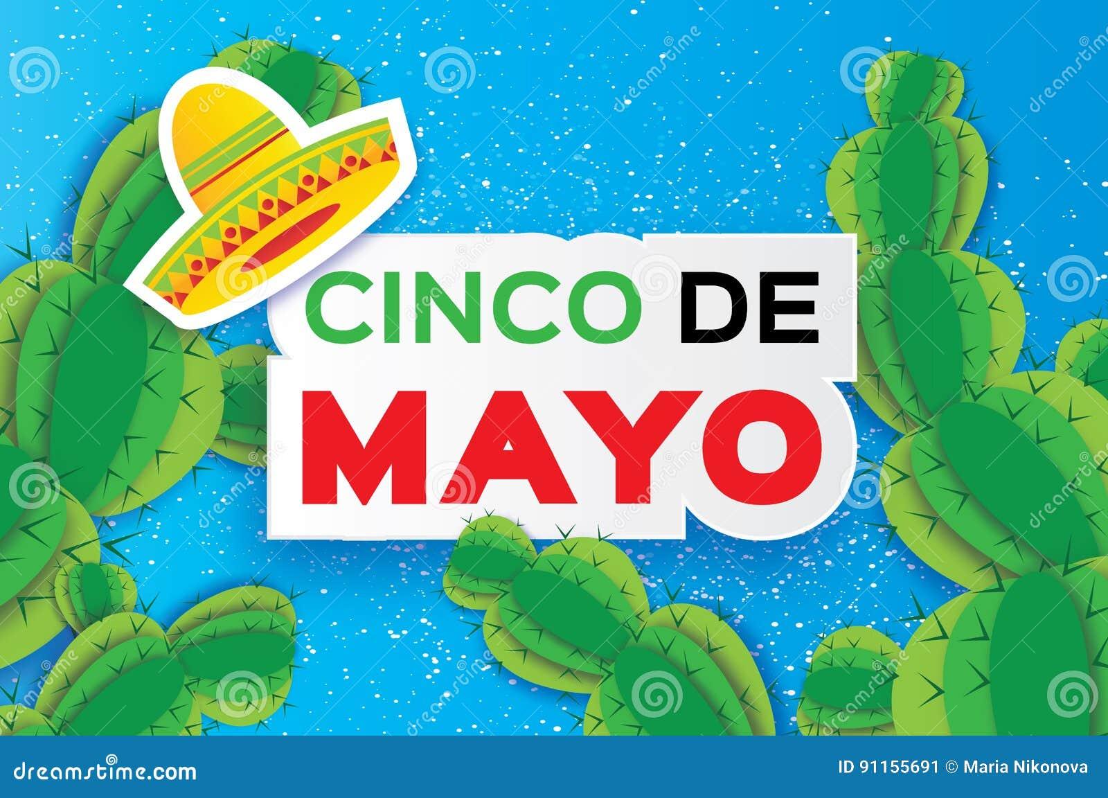 Cartão feliz de Cinco De Mayo Chapéu mexicano do sombreiro do origâmi 5d0d82ddc32