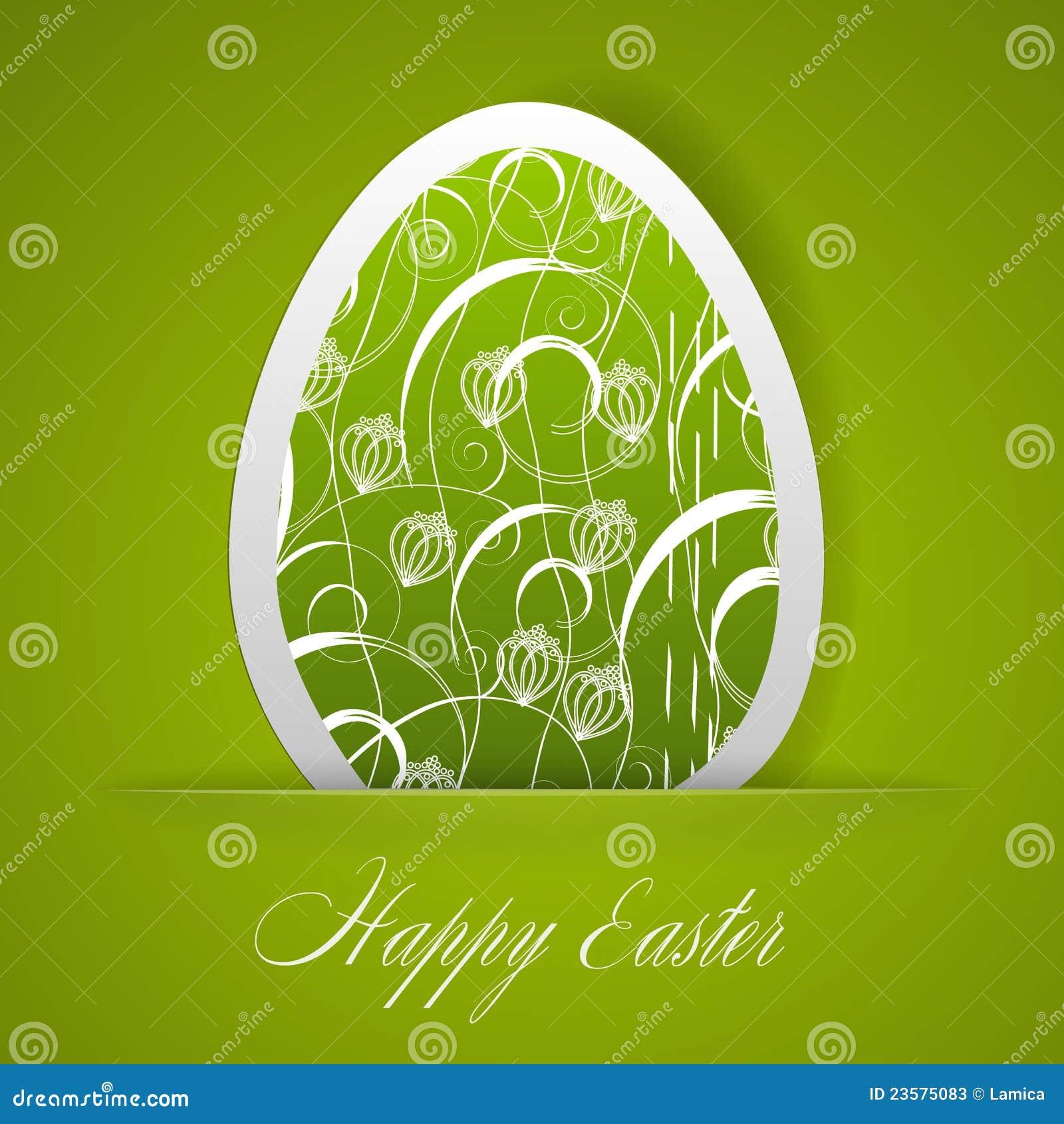 Cartão feliz de Easter