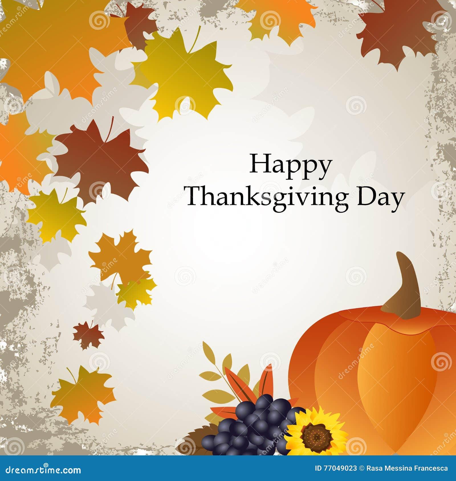 Cartão feliz do dia da ação de graças