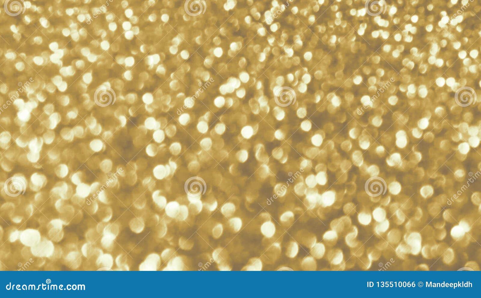 Cartão festivo brilhante dourado do ano novo Fundo de incandescência com estilo do bokeh para cumprimentos sazonais