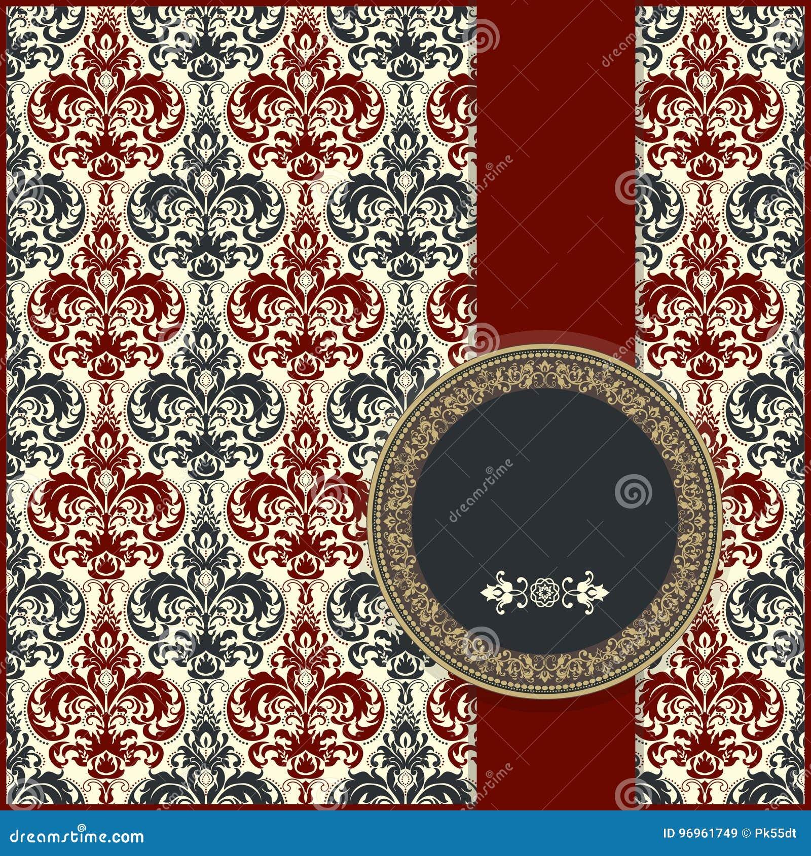 Cartão ou convite de casamento com fundo floral abstrato Cartão do cumprimento no grunge ou no vetor retro