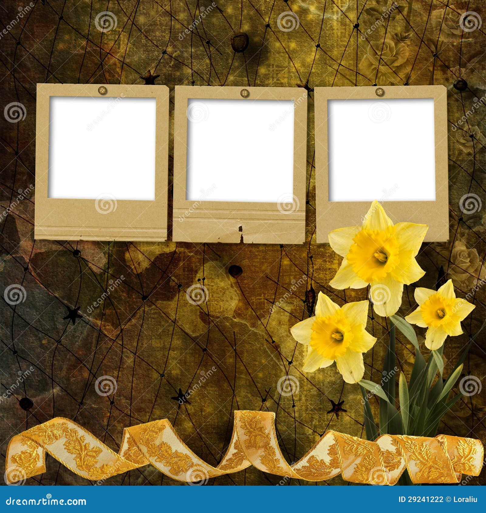 Download Cartão Para O Convite Com O Ramalhete Do Narciso Das Flores Ilustração Stock - Ilustração de antique, decorativo: 29241222
