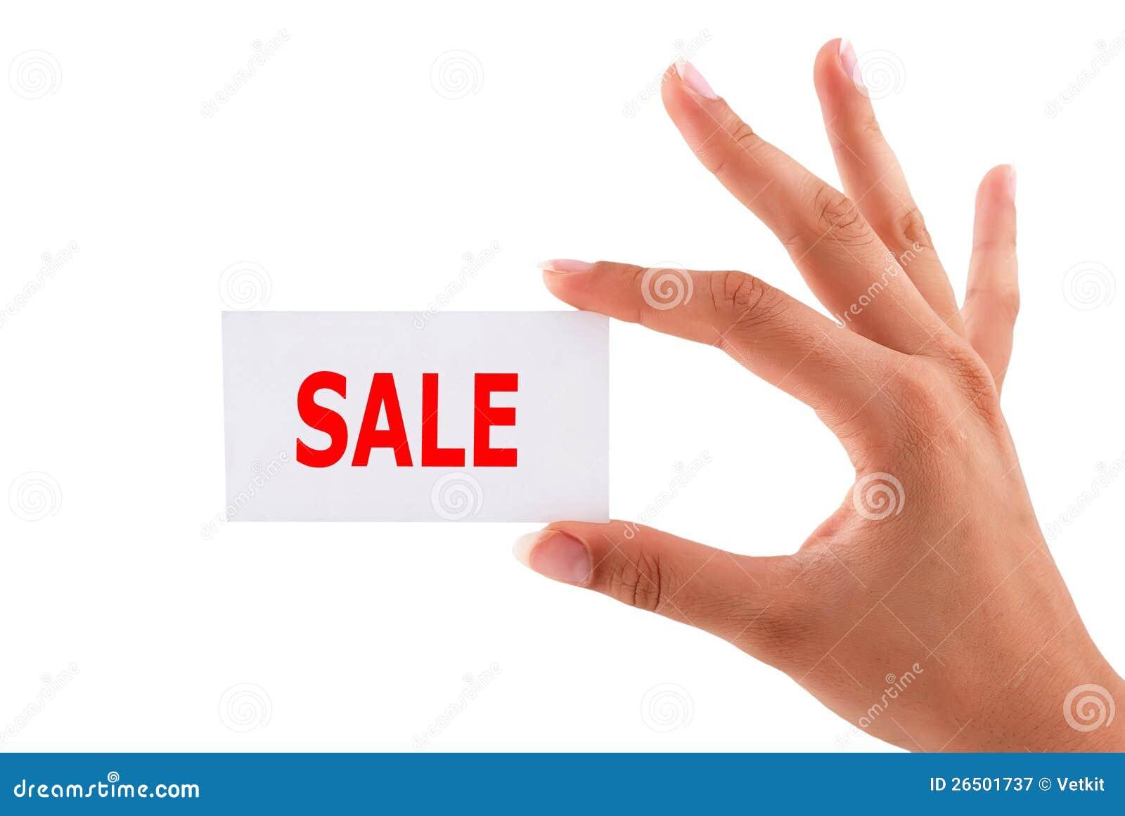 Cartões da venda disponivéis
