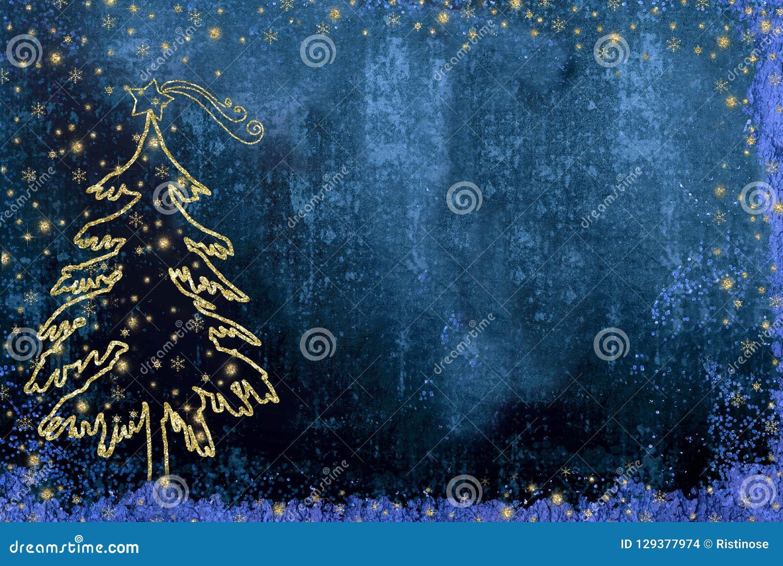 Cartões de cumprimentos da árvore de abeto da natividade do Natal
