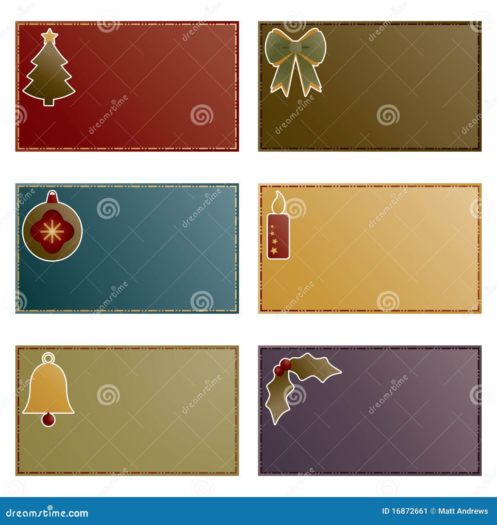 Cartões de nota do Natal