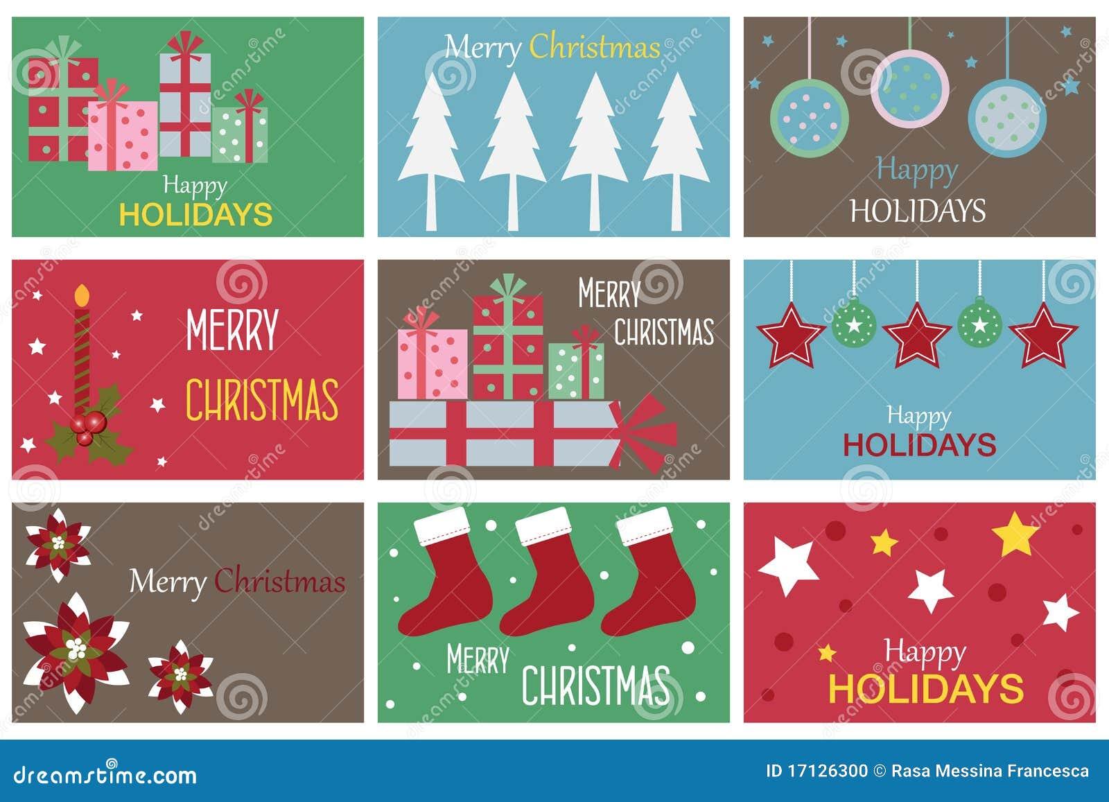 Cartões do presente do Natal