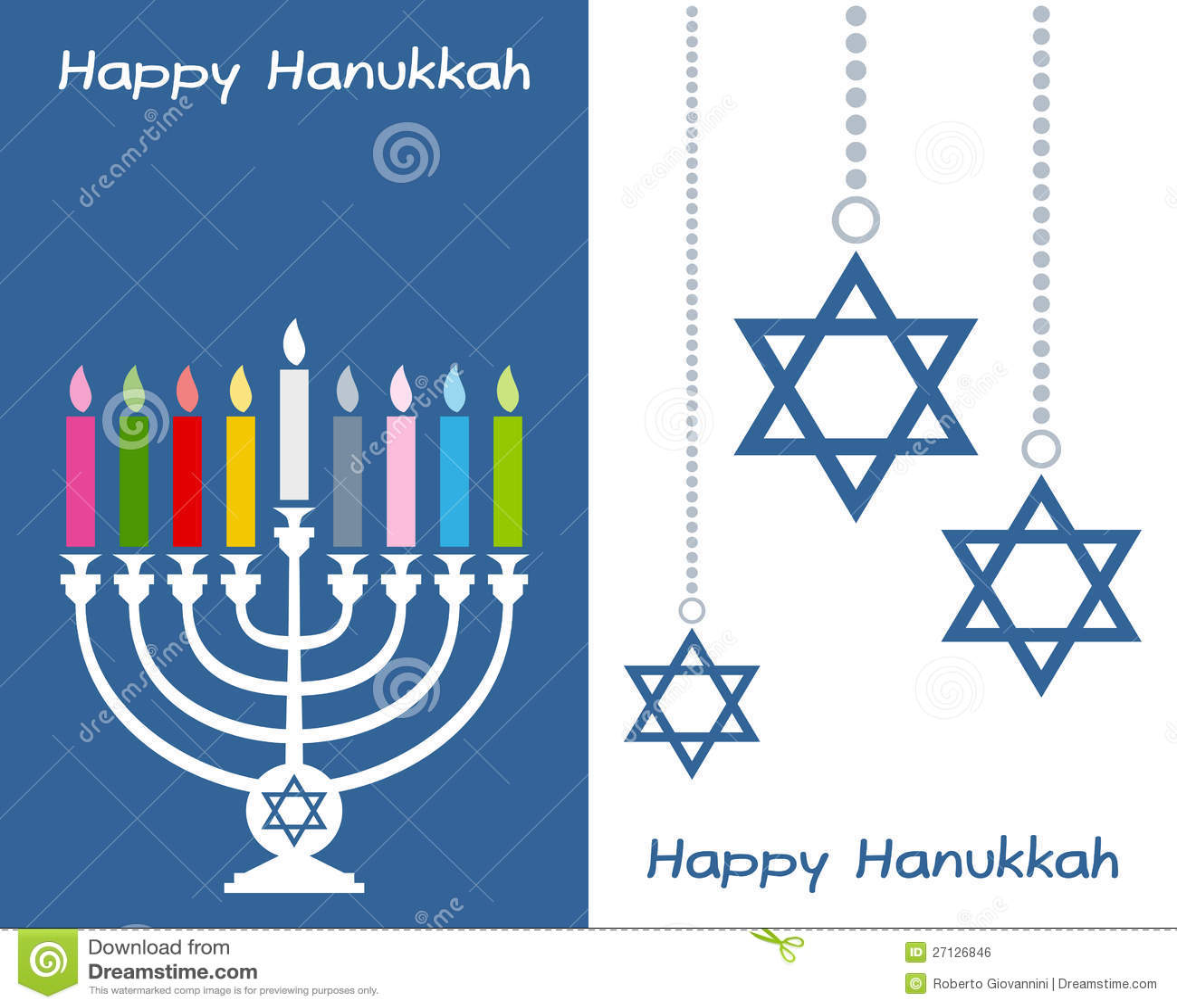 Cartões felizes de Hanukkah