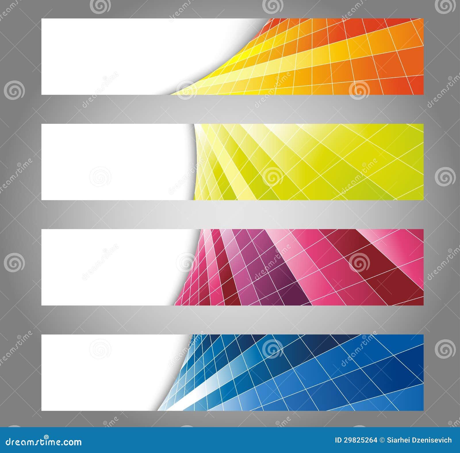 Cartões de vista frescos coloridos