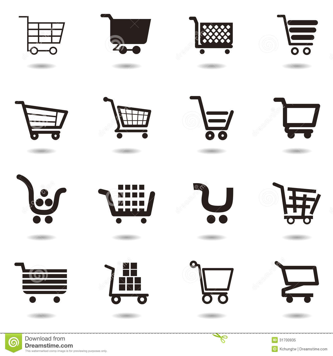 Cart icon set royalty free stock photo image 31700935