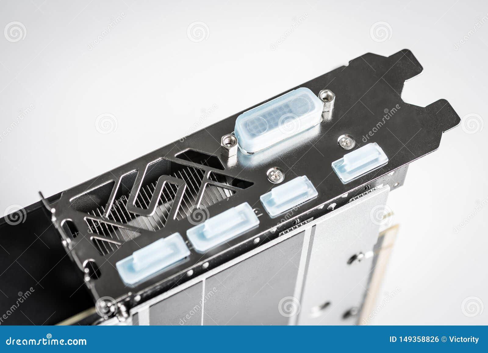 Cart?o gr?fico com DVI, conectores do jogo profissional do PC de HDMI Displayport
