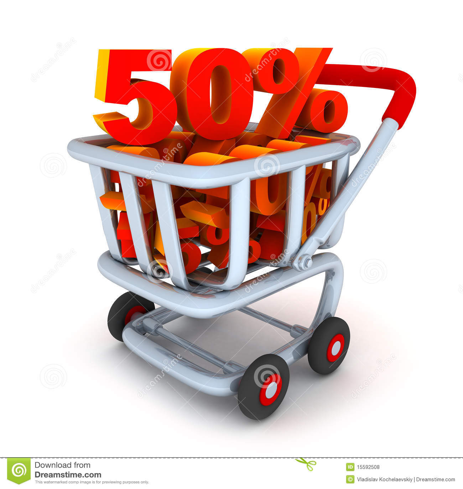 Cart and percent 50