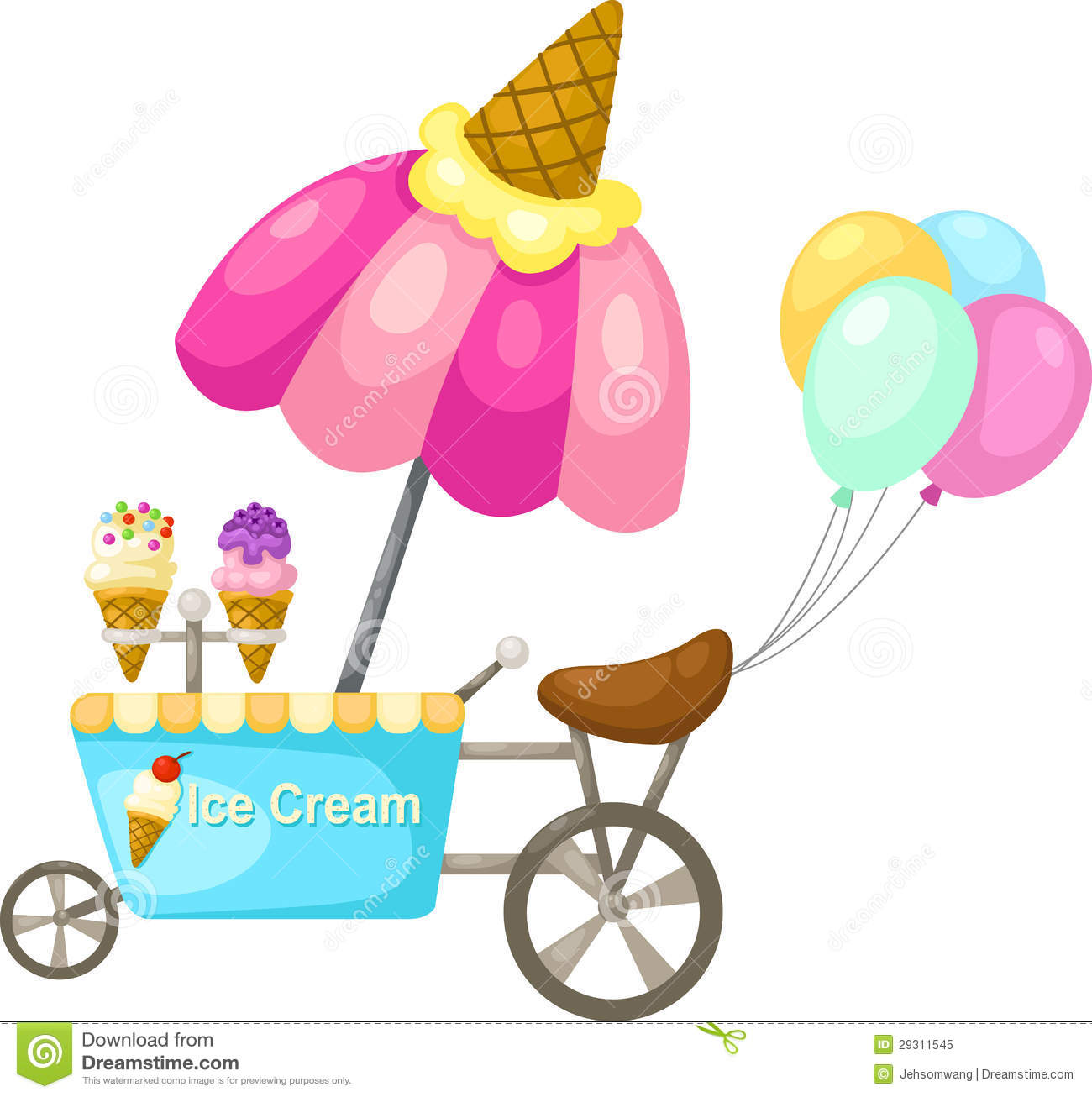 Download Cartoon Ice Cream Wallpaper Gallery: Cart Stall And A Ice Cream Stock Vector. Illustration Of