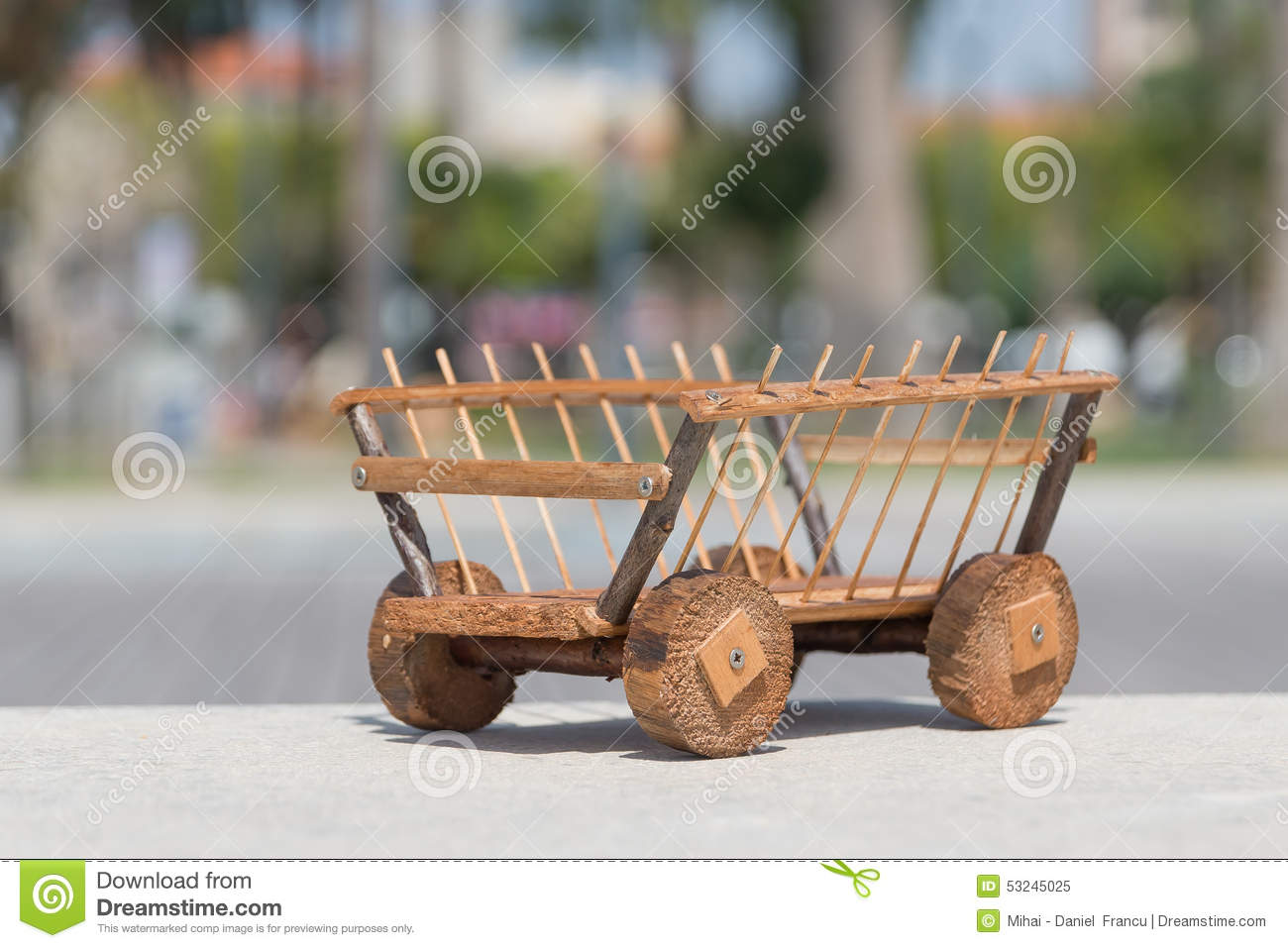 Cart Wood Stock Image. Image Of Things, Wood, Handmade