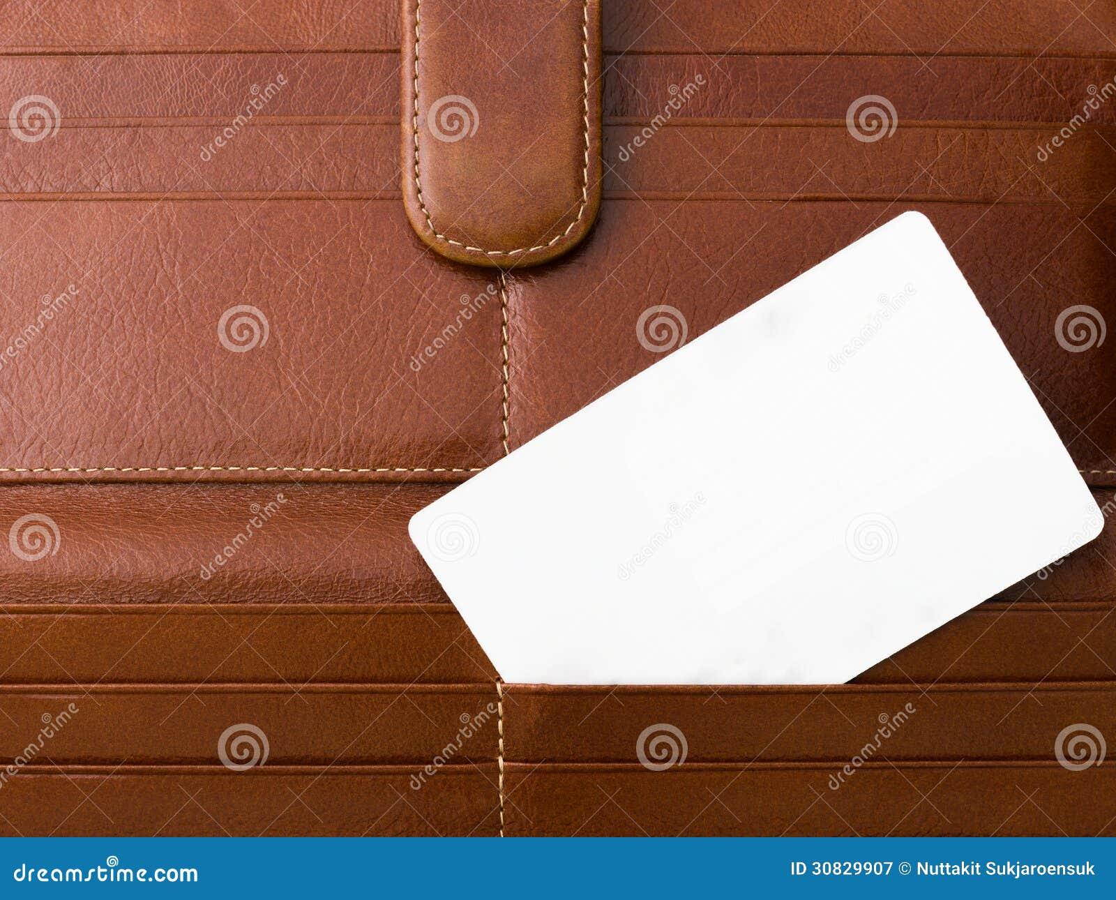 Carta bianca sulla borsa di Brown