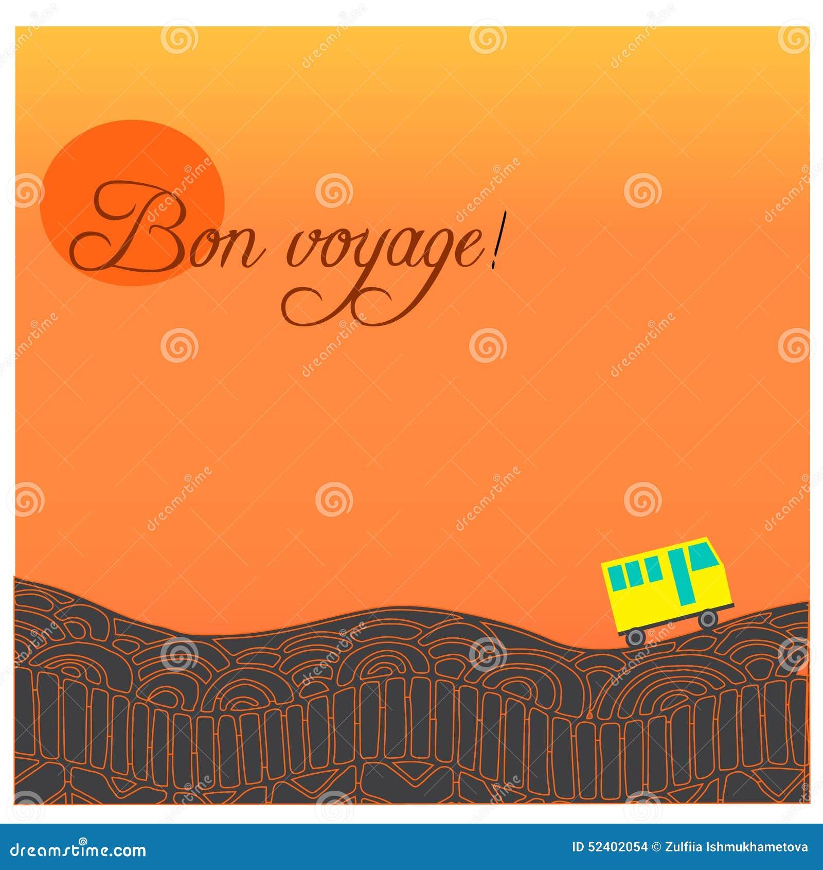Exceptionnel Carta Con Il Viaggio Felice Della Strada, Del Bus E Del Testo In  SE74