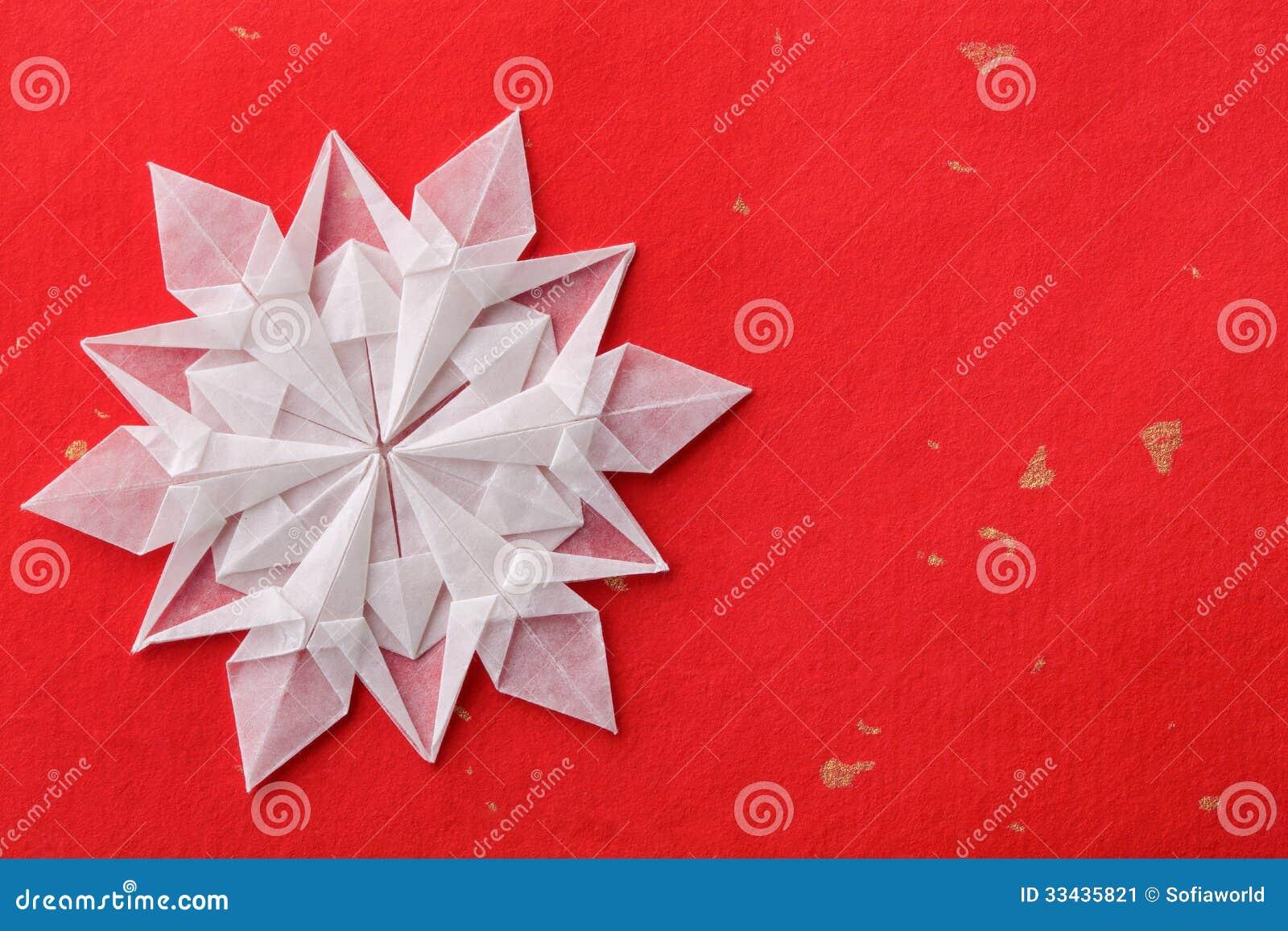 Fiocchi Di Neve Di Carta 3d : Carta d del fiocco di neve di natale immagine stock immagine di