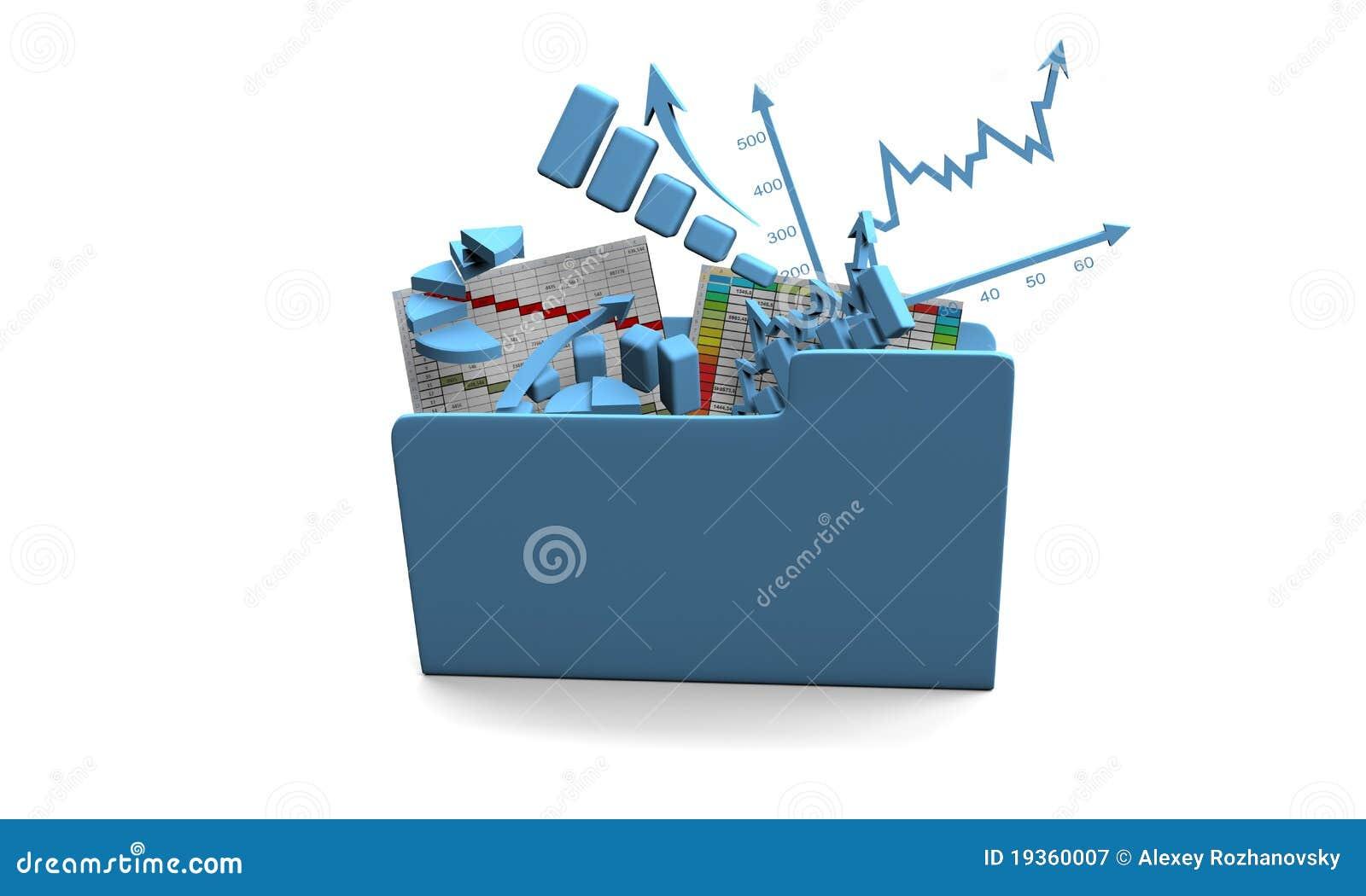 Carta da finança do negócio, diagrama, barra, gráfico