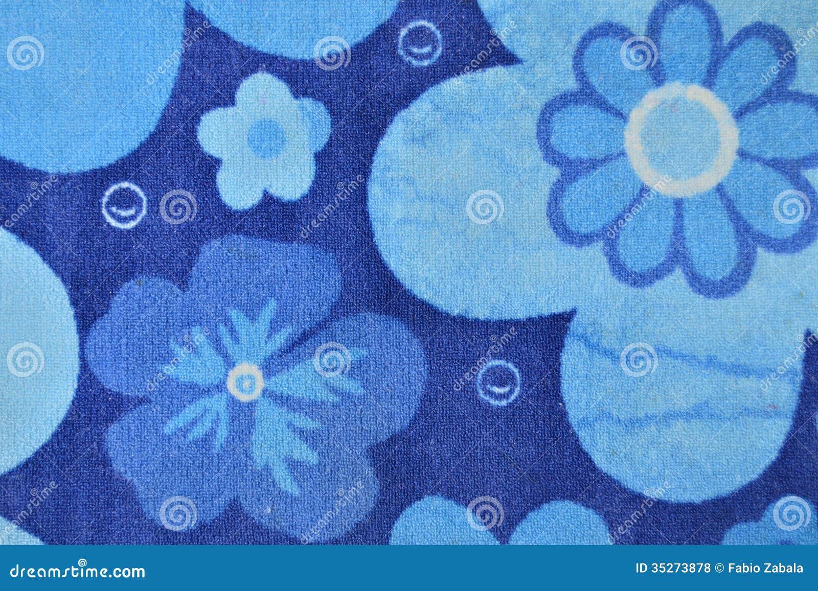 Carta da parati blu del fiore fotografie stock libere da for Carta parati blu