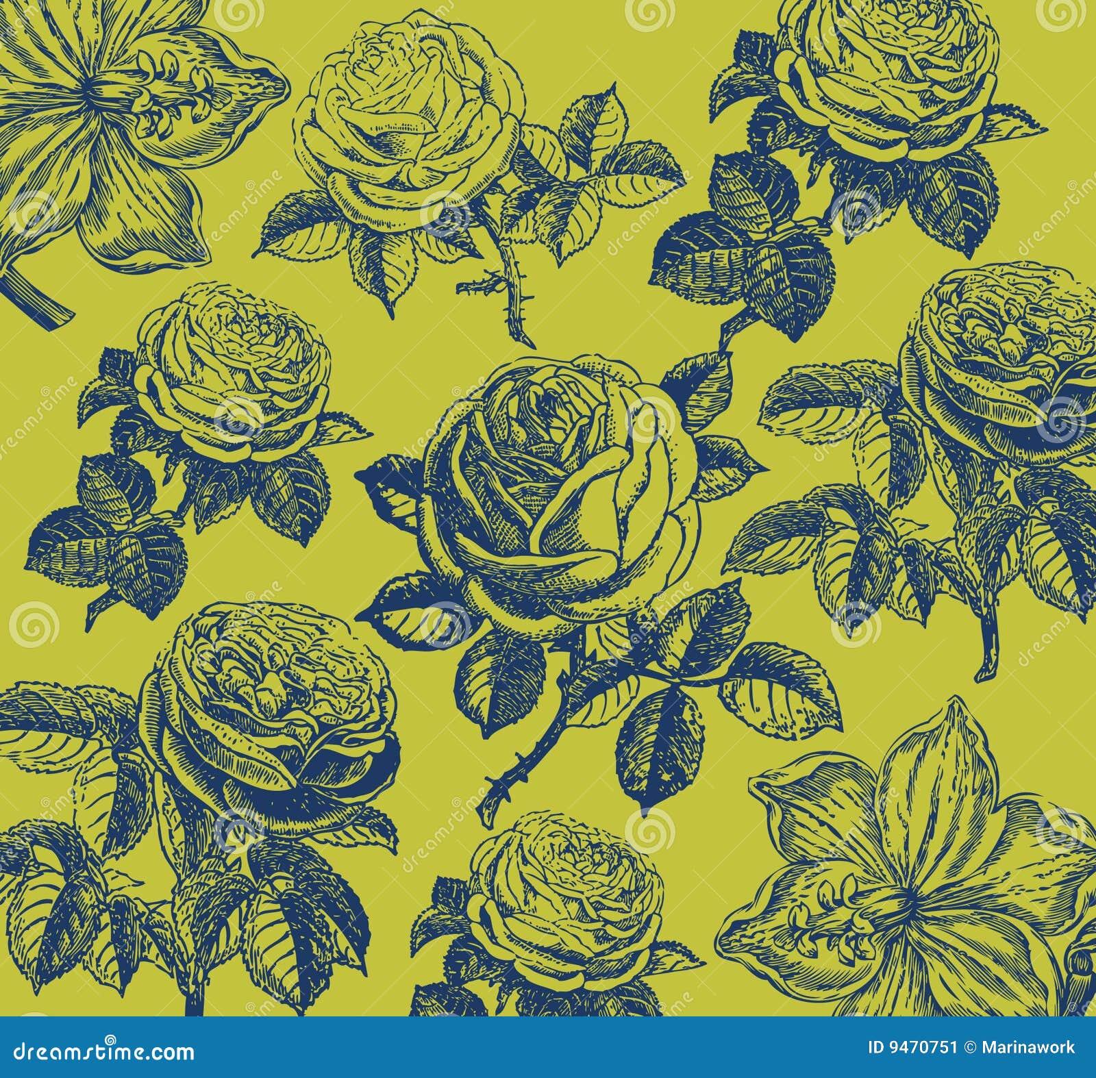 Carta da parati classica con un reticolo di fiore for Parati classici