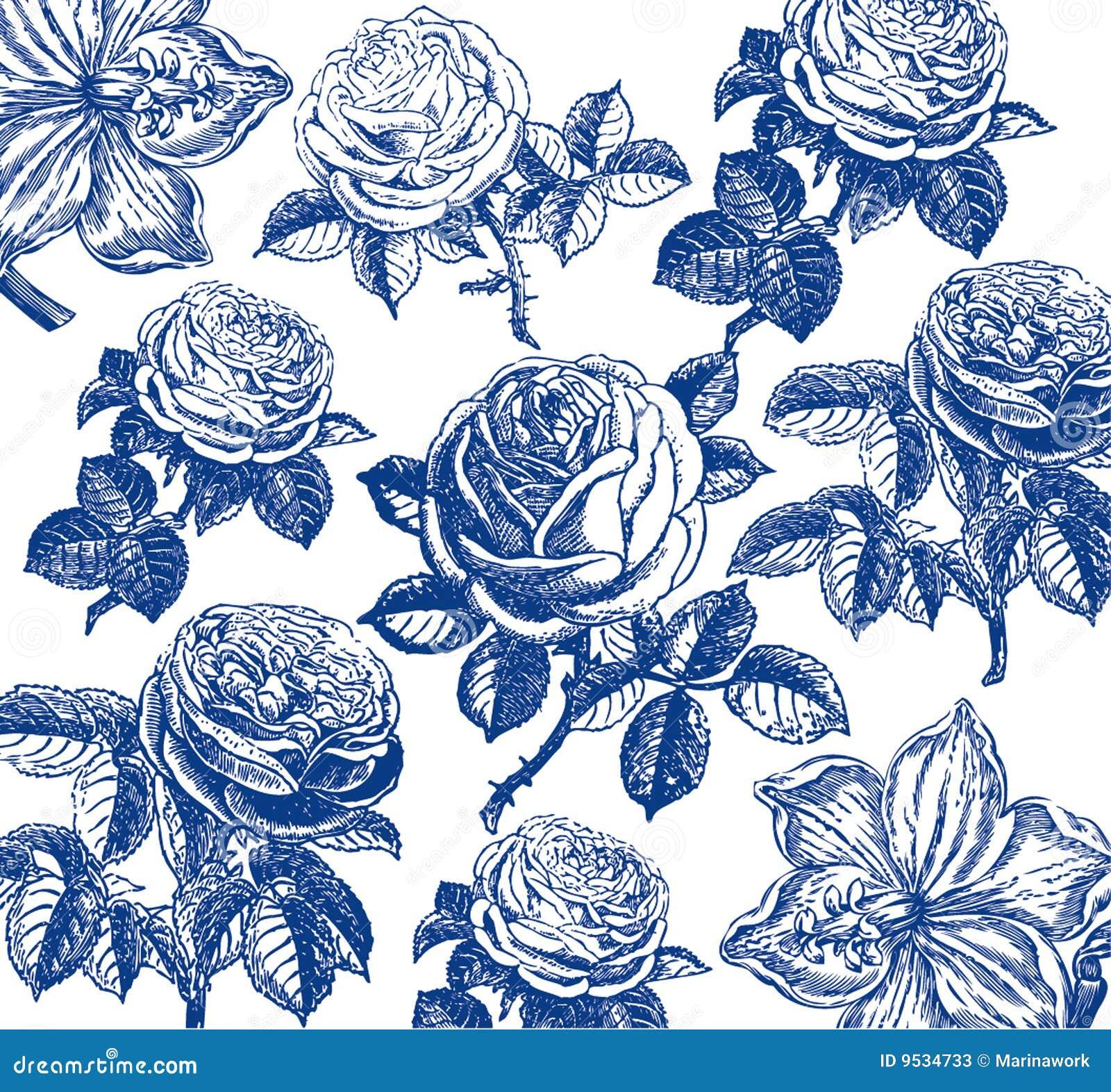 Carta da parati classica con un reticolo di fiore for Carta da parati classica