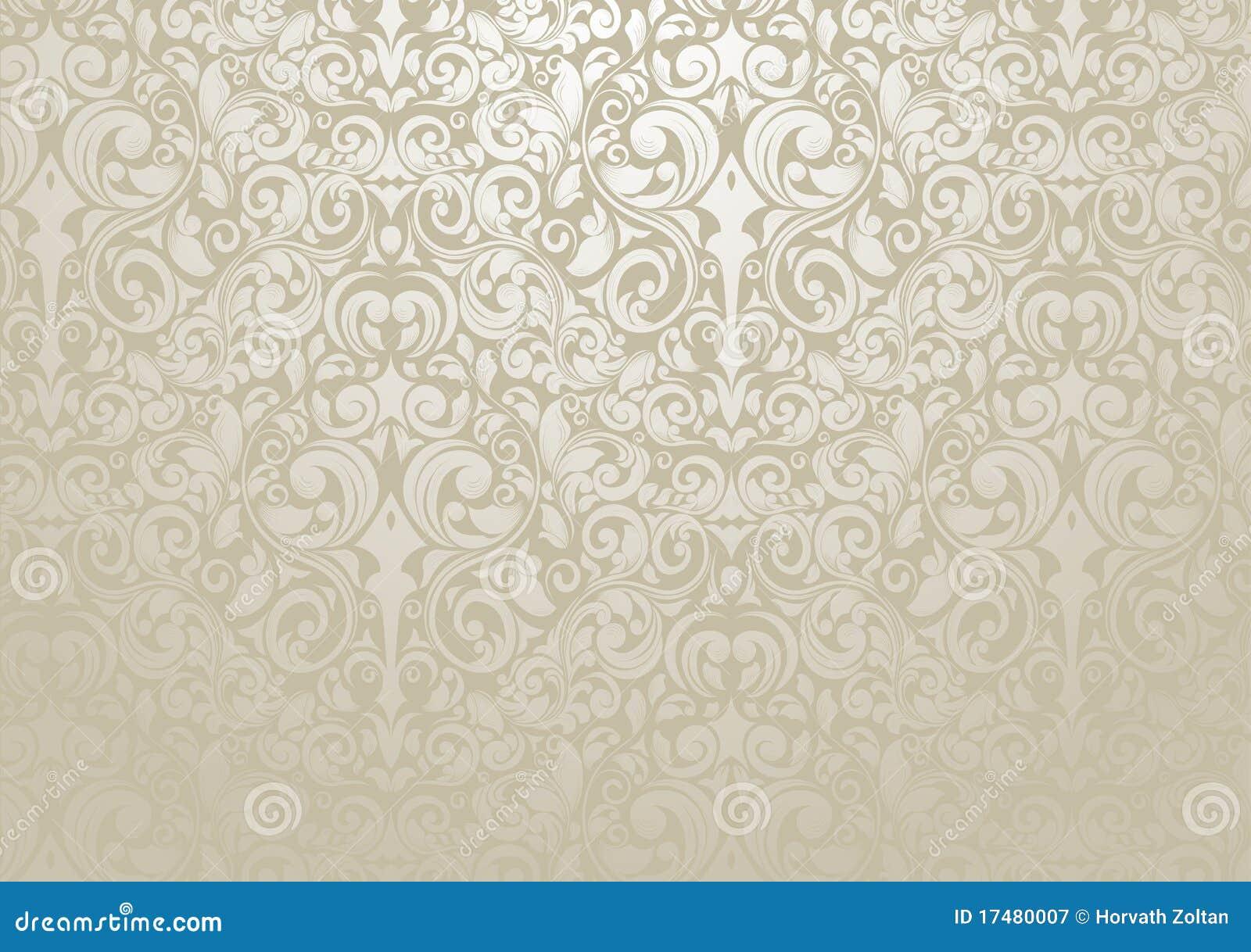Carta da parati d 39 argento illustrazione vettoriale for Carta da parati damascata argento