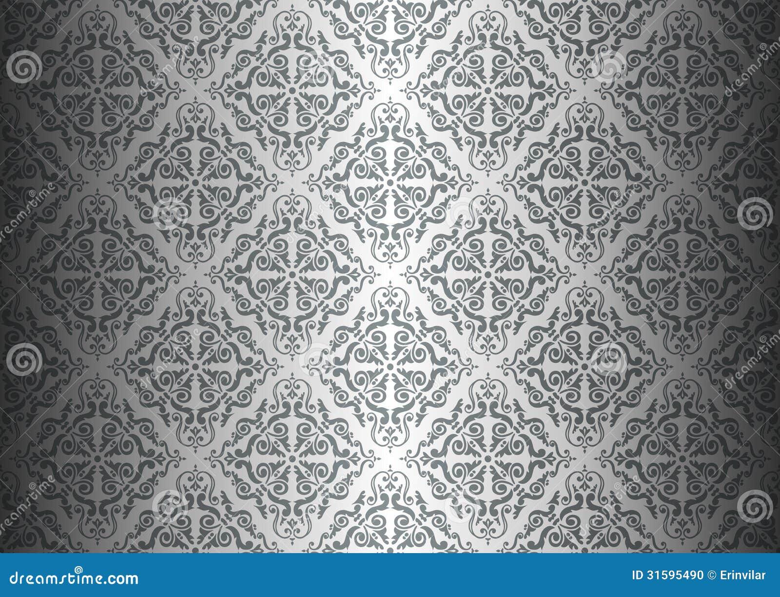 Carta da parati d 39 argento illustrazione vettoriale for Carta parati argento