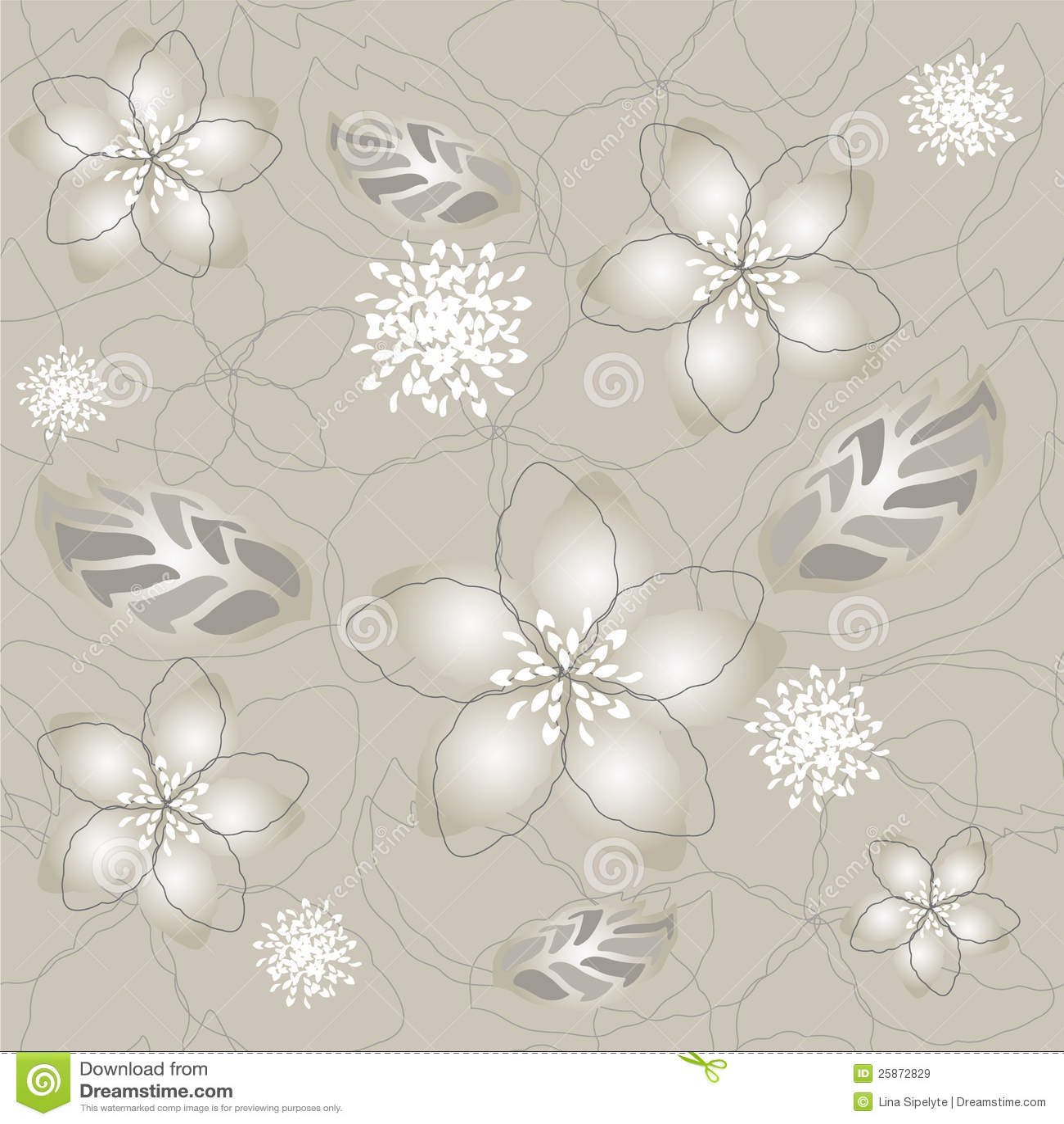 carta da parati d 39 argento grigia senza giunte del fiore