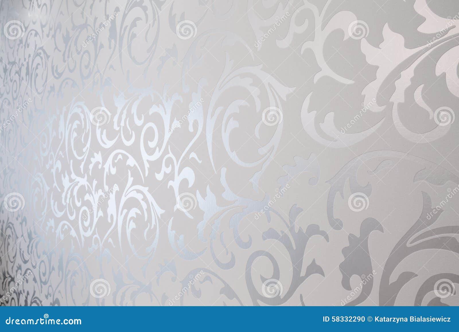 carta da parati d 39 argento modellata illustrazione di stock