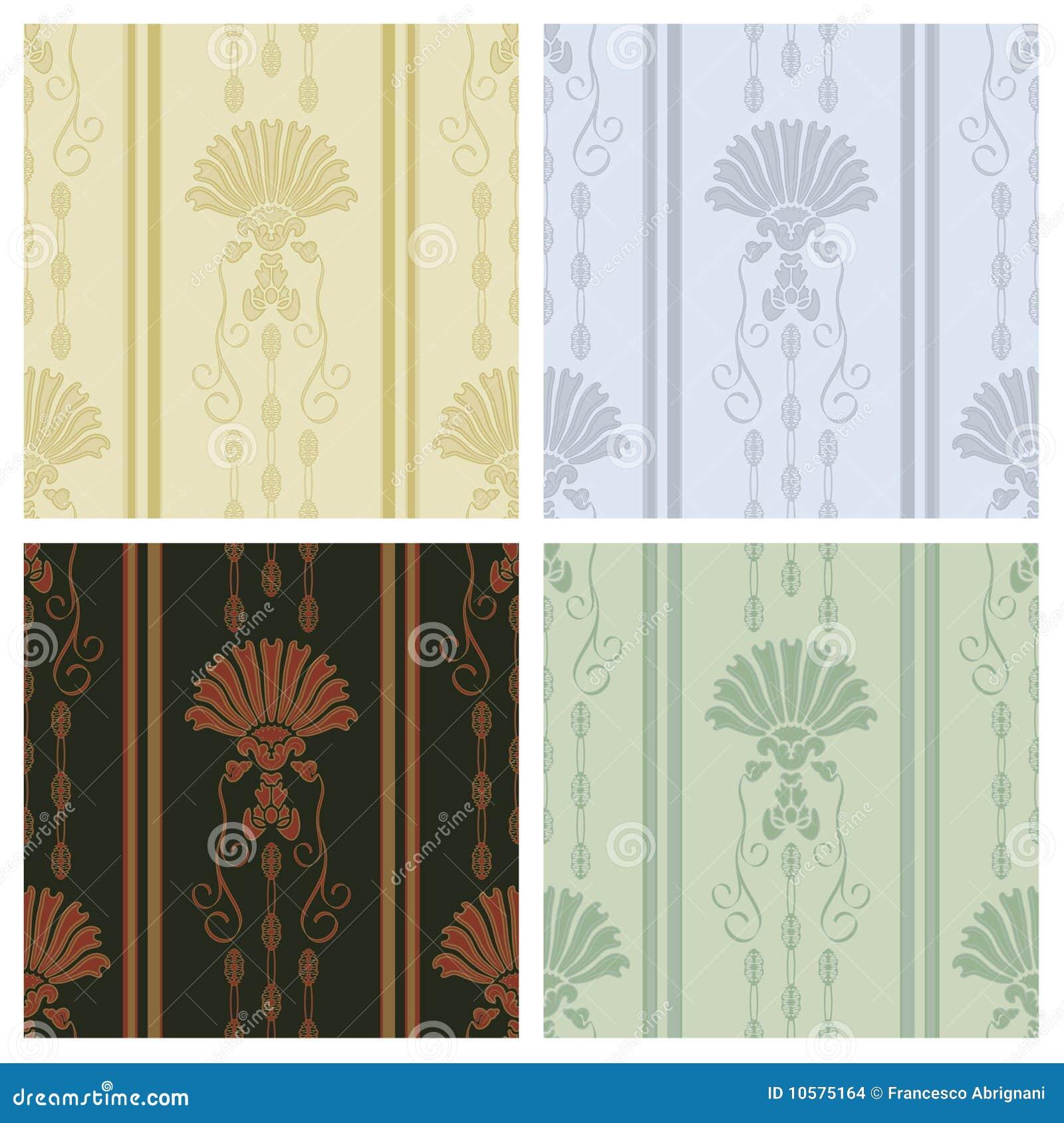 Carta da parati decorativa illustrazione vettoriale illustrazione di fiore 10575164 - Carta da parati decorativa ...