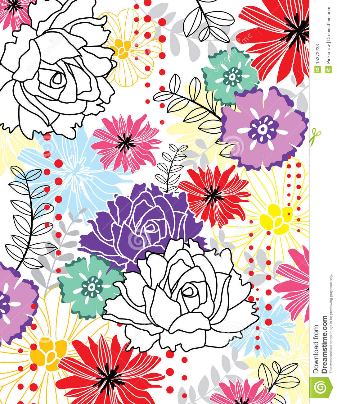 Carta da parati dei fiori illustrazione vettoriale for Carta da parati online shop