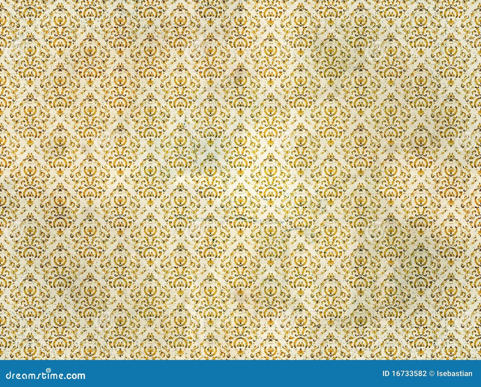 Carta da parati del damasco del vecchio oro illustrazione for Carta da parati oro