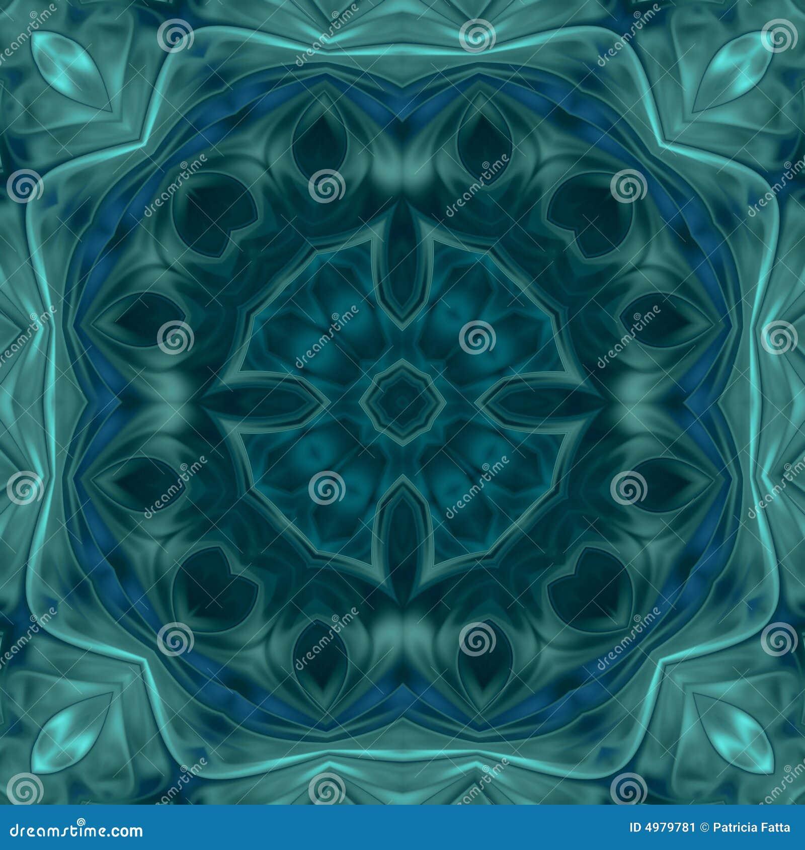 Carta da parati del medaglione di verde di mare immagine for Carta da parati 3d mare