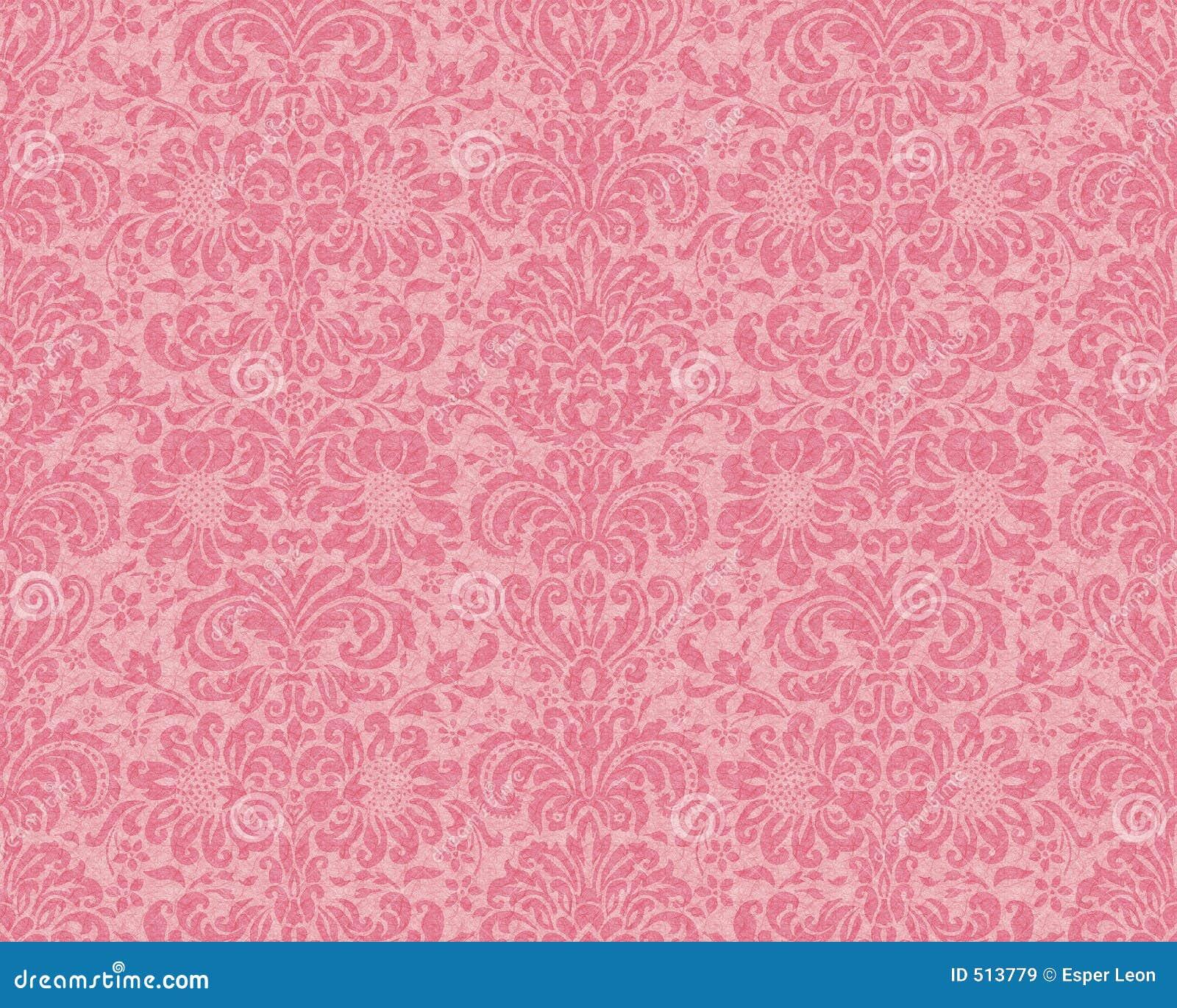 Carta da parati del victorian rosa immagini stock libere for Stock carta da parati